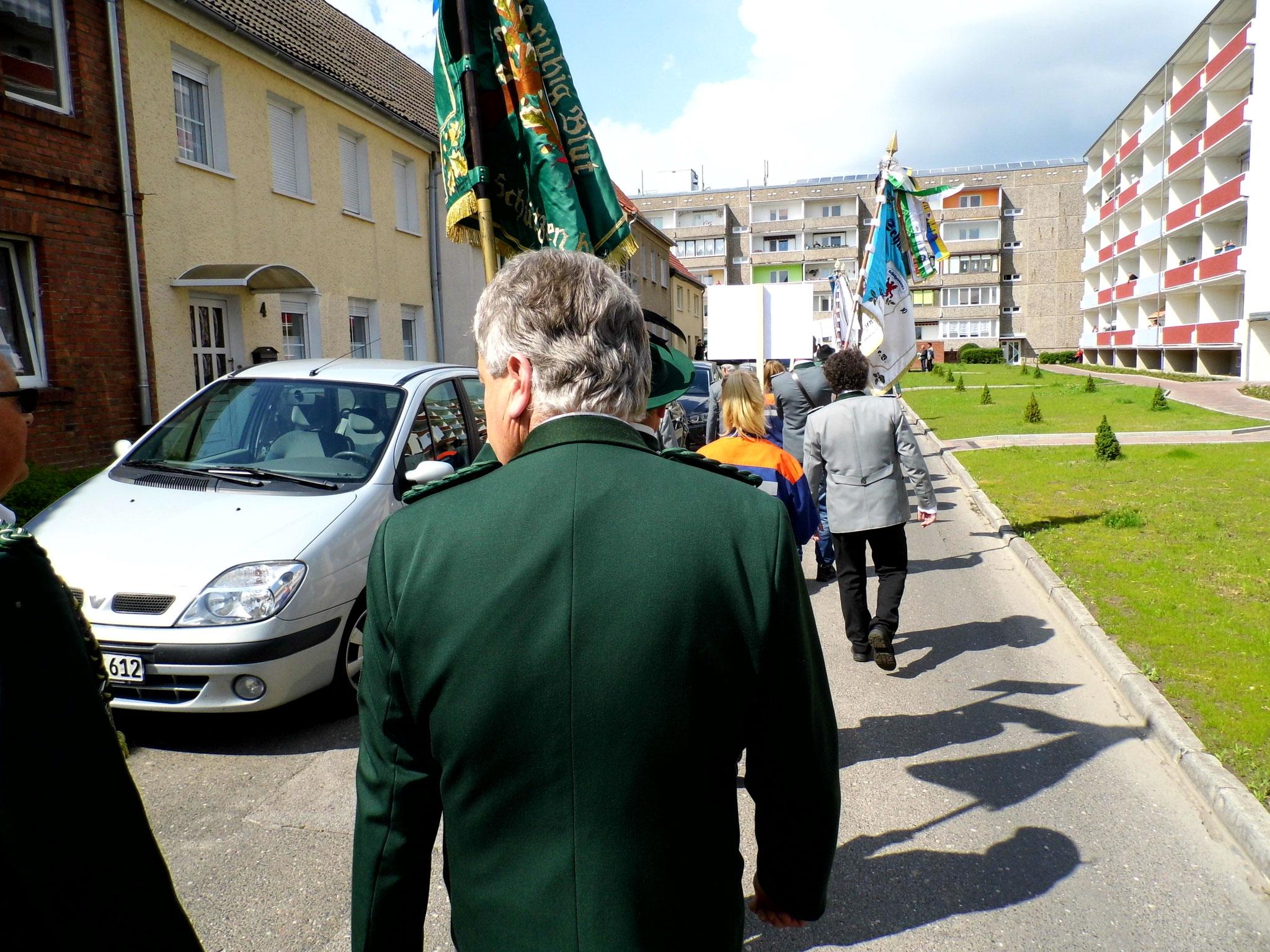 Rainer Klockow während des Schützenfestumzuges