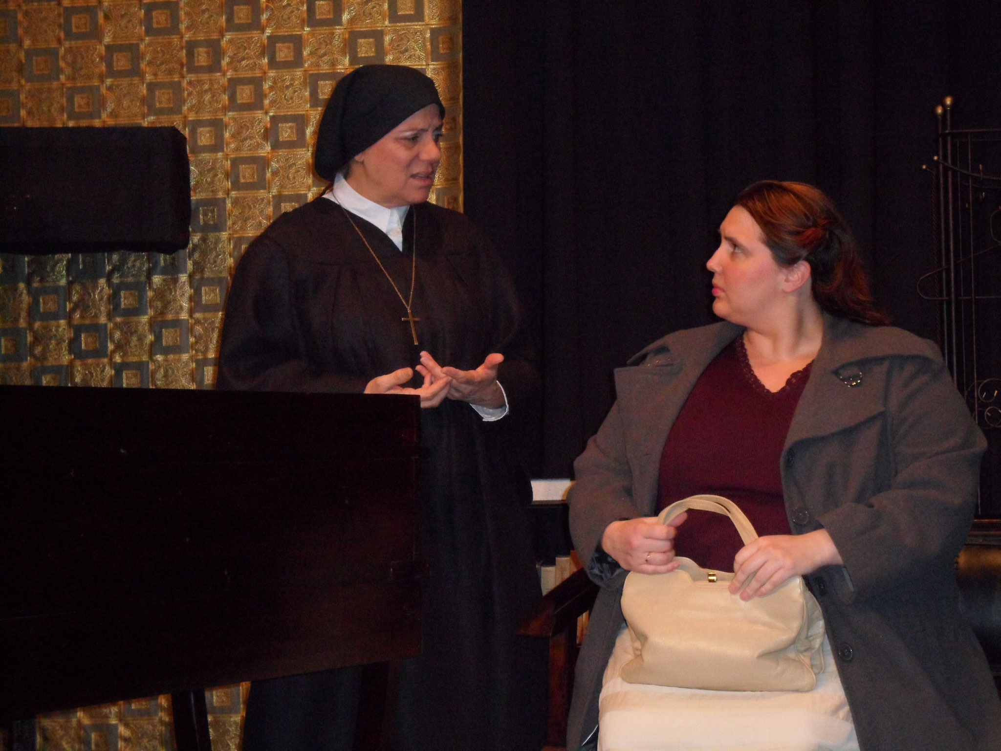 "Stacey Groves and Diana Schupp in ""Doubt, A Parable"" by John Patrick Shanley - April 2013"