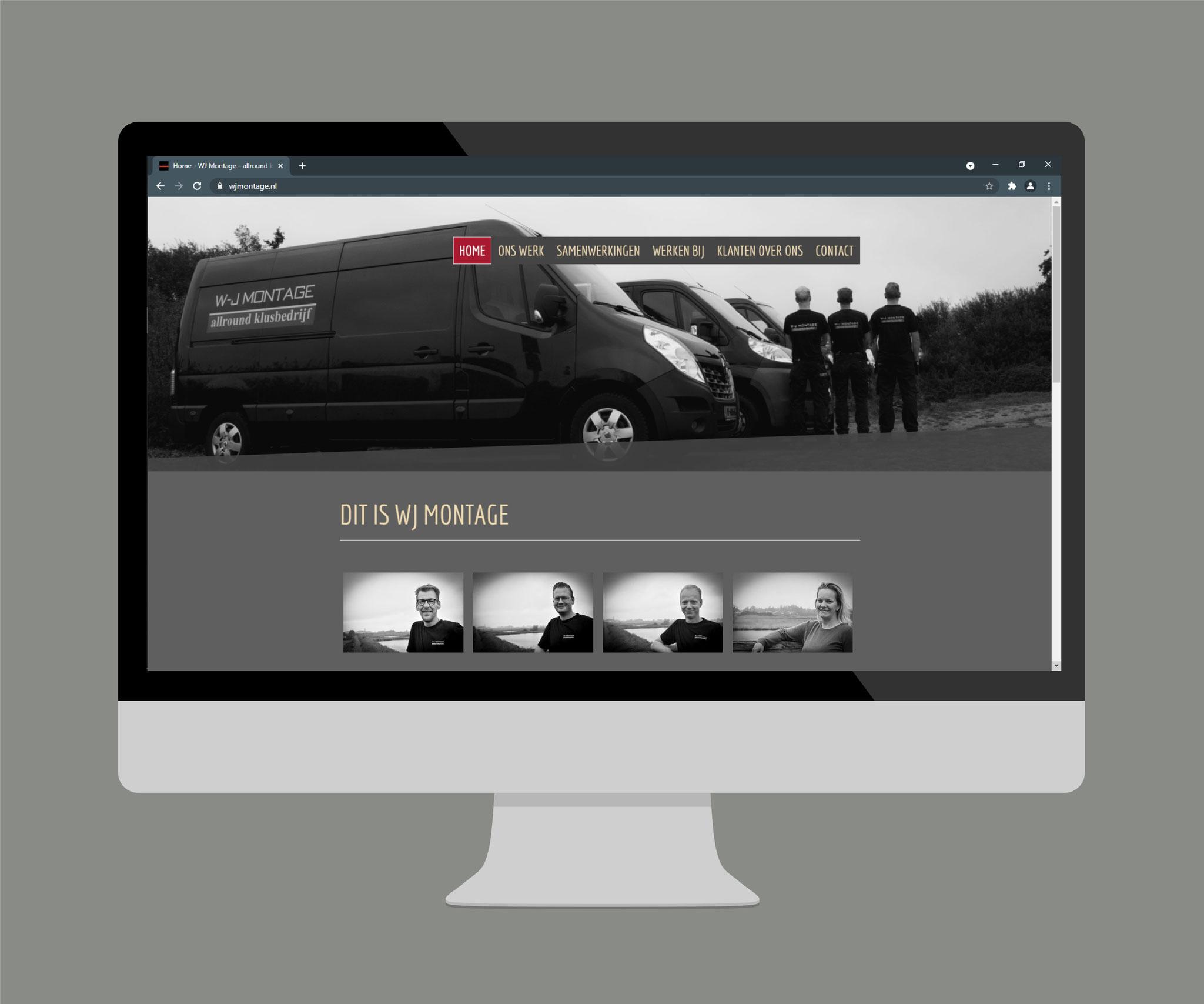 Compleet webdesign en maken van de foto's voor www.wjmontage.nl