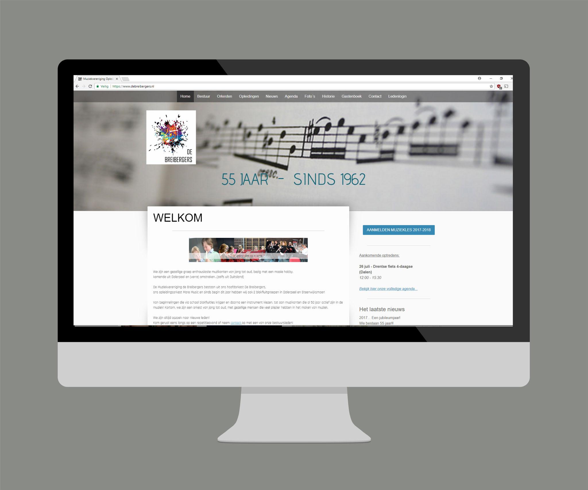 Compleet webdesign & dagelijks beheer www.debreibergers.nl