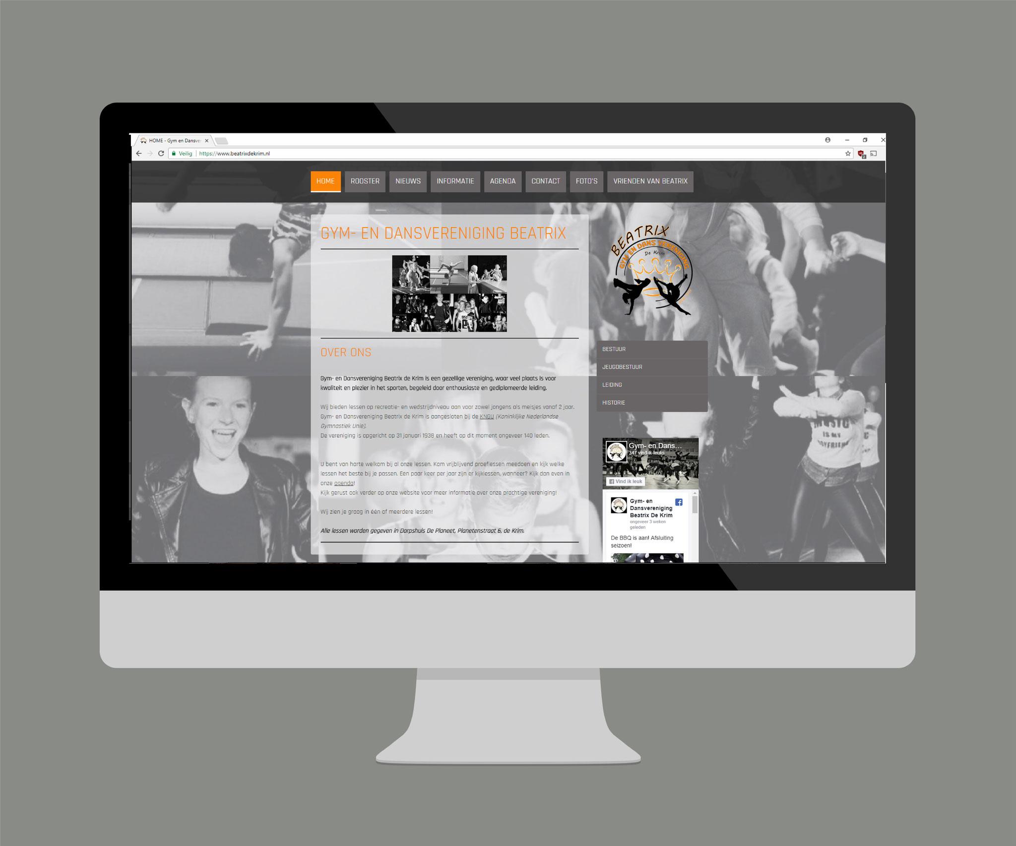 Compleet webdesign www.beatrixdekrim.nl
