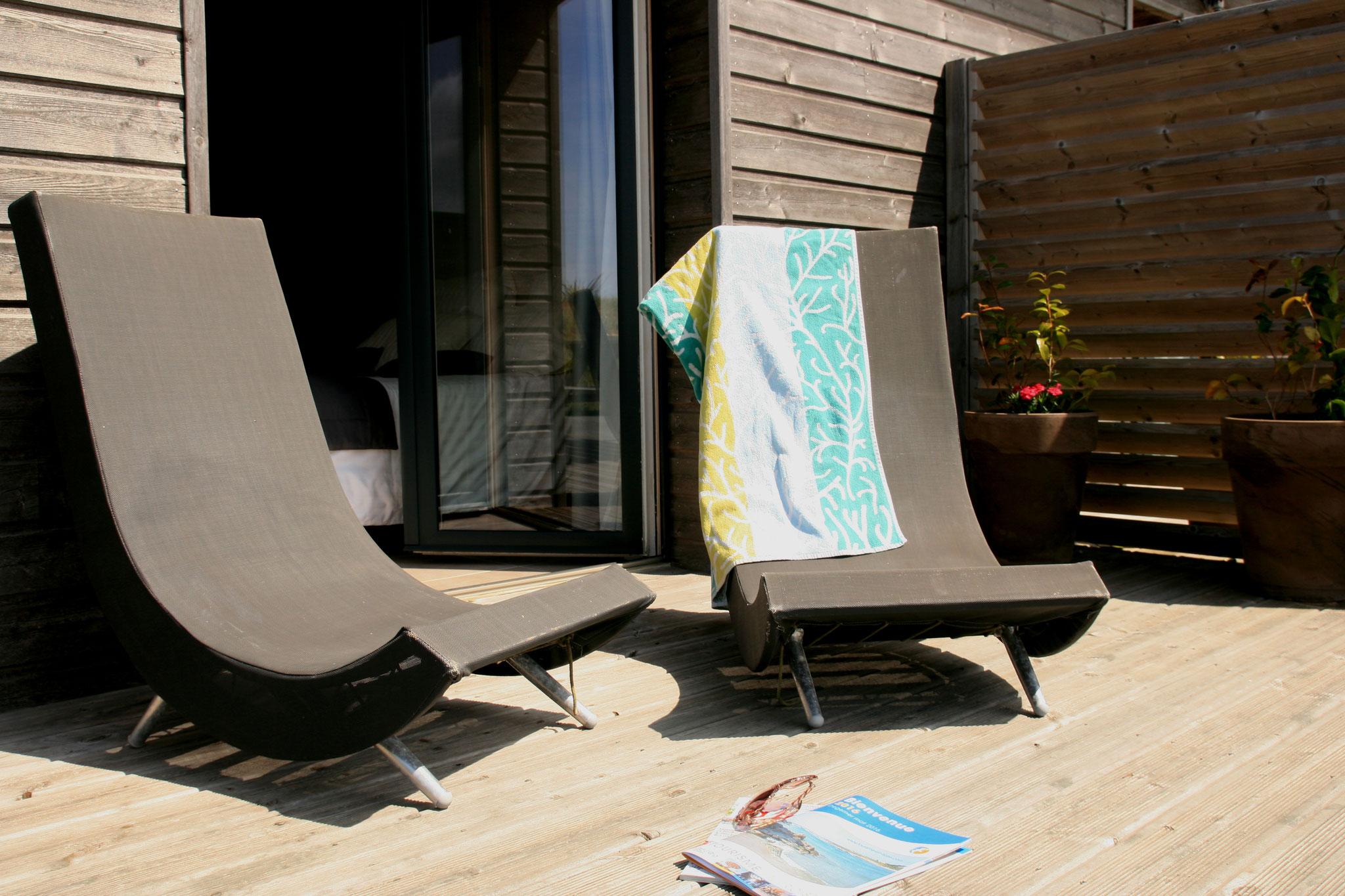 Bains de soleil en terrasse