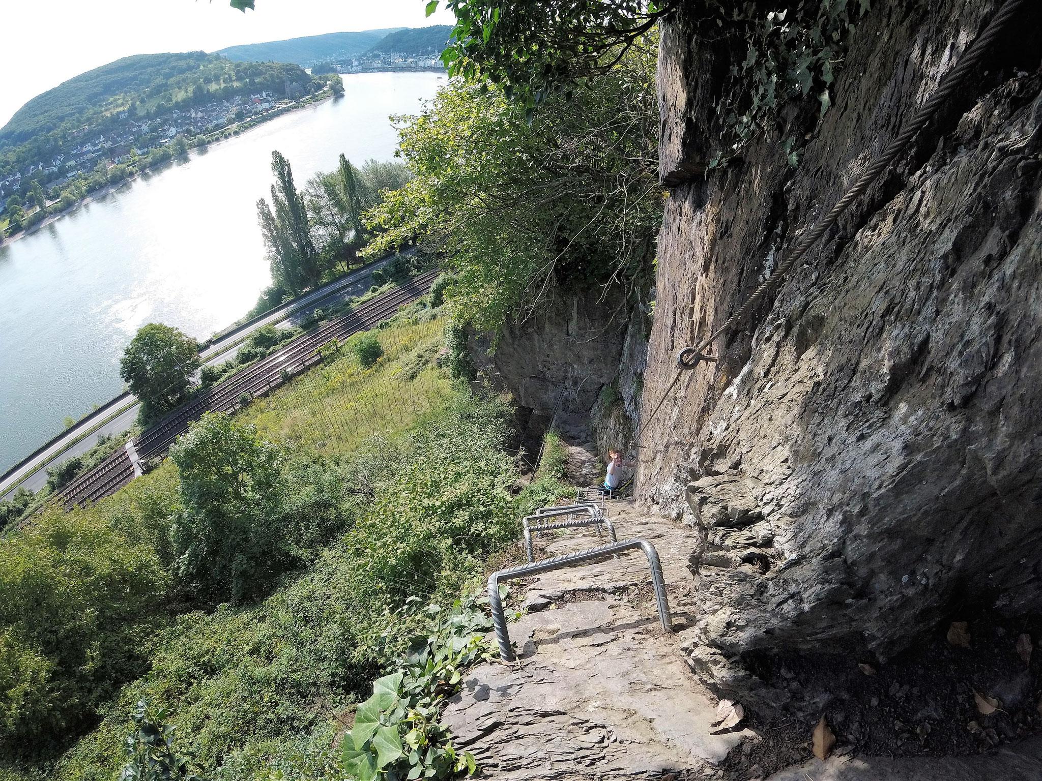 Klettersteig Quarzit : Mittelrheinklettersteig trailrunning hunsrück