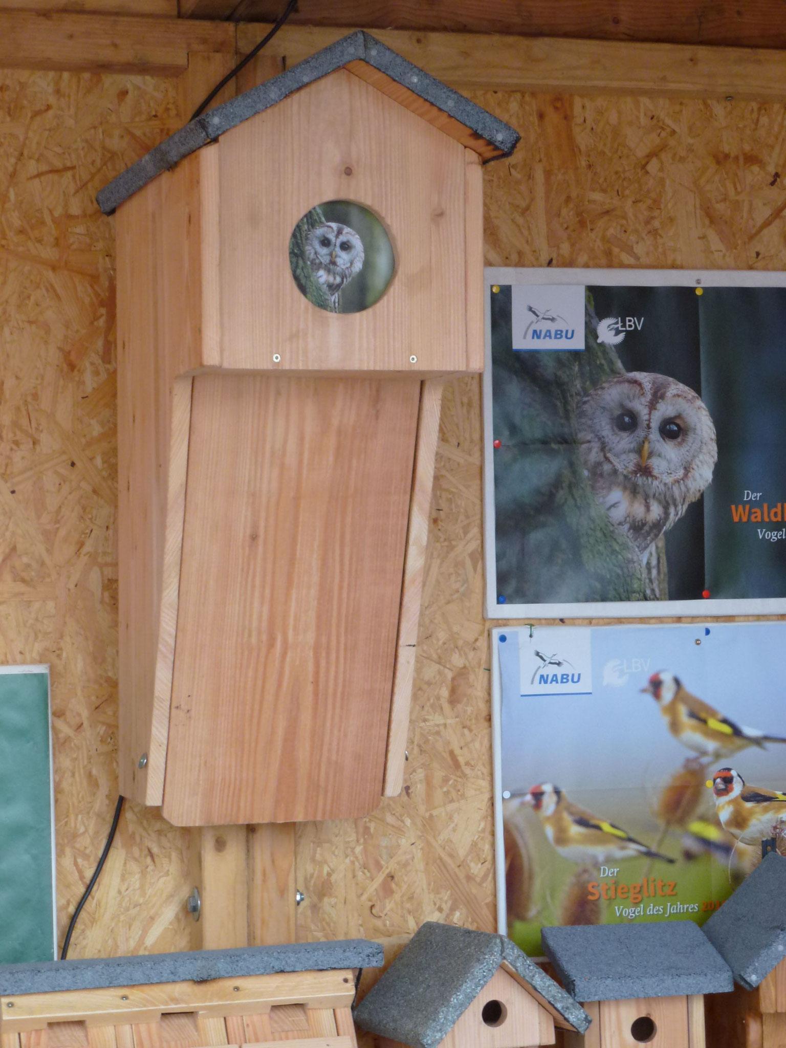 Der Waldkauzkasten (Vogel des Jahres 2017)