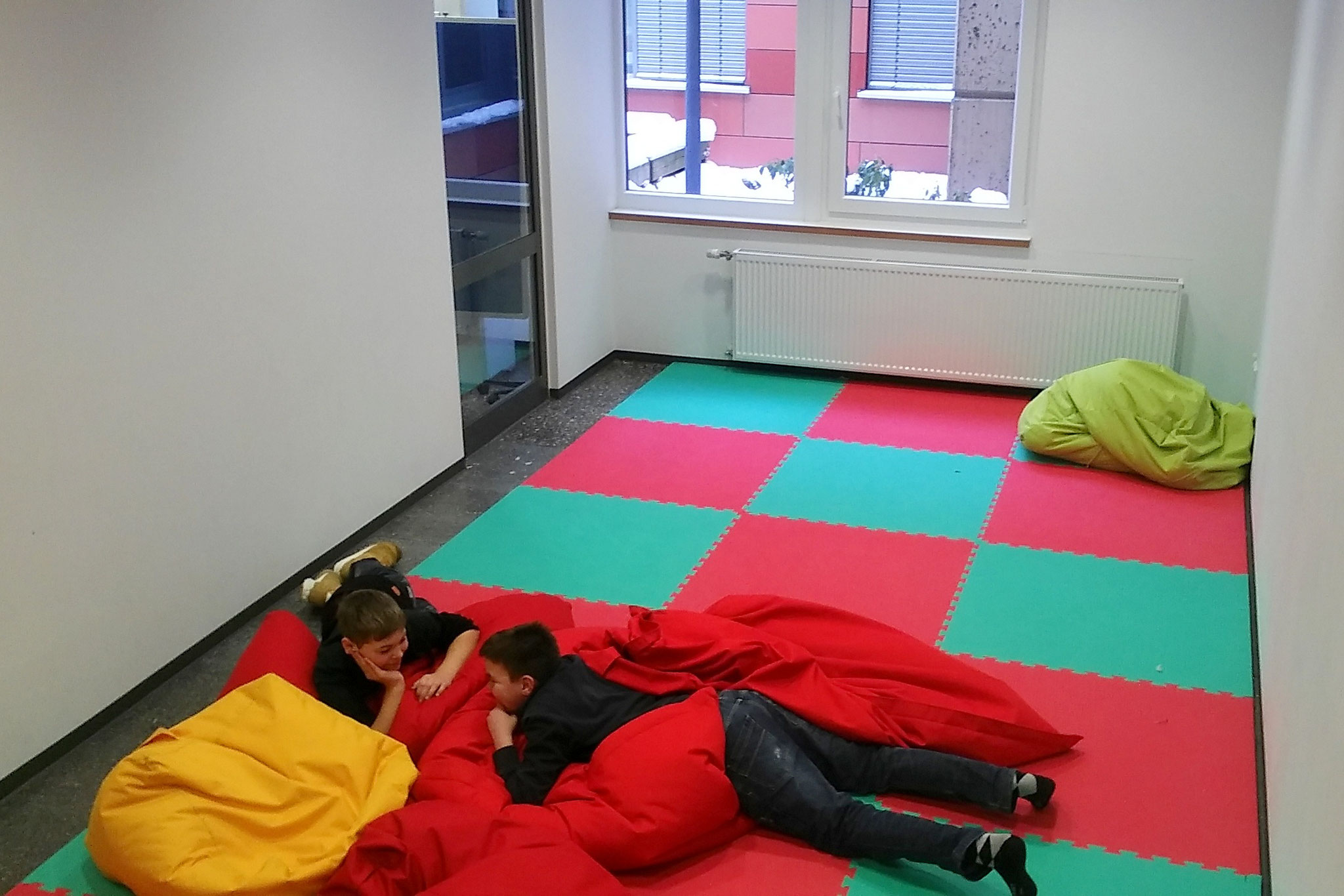 Chillroom der Schulbücherei MPS