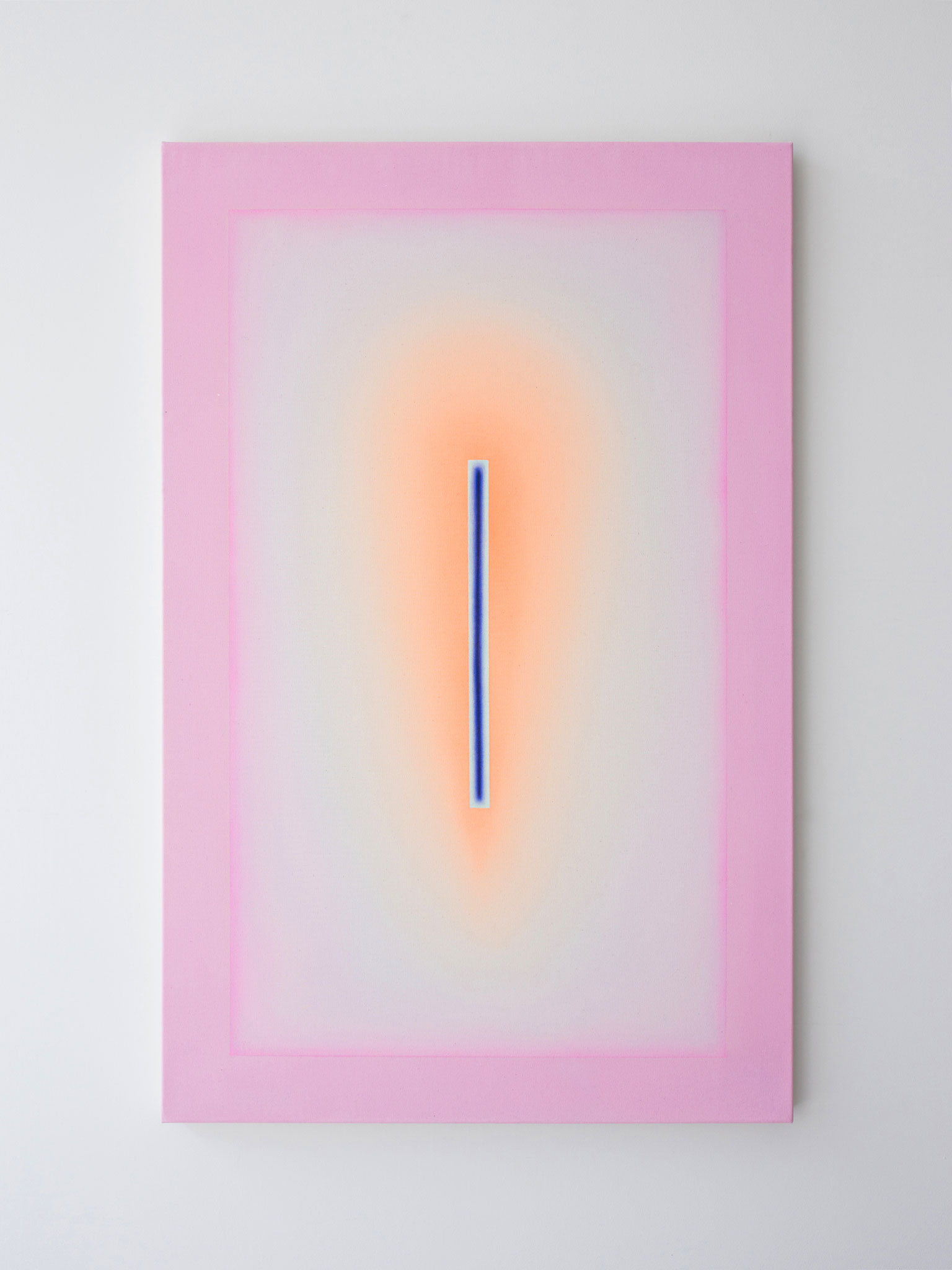 "Alina Birkner ""Untitled (Orange Pink)"" 2017, 140x90 cm, Acrylic on Canvas"