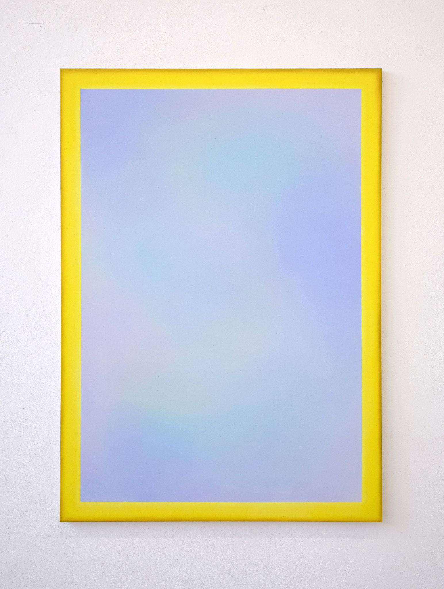 "Alina Birkner ""Untitled (Yellow Frame)"" 2019, 170x120 cm, Acrylic on Canvas"
