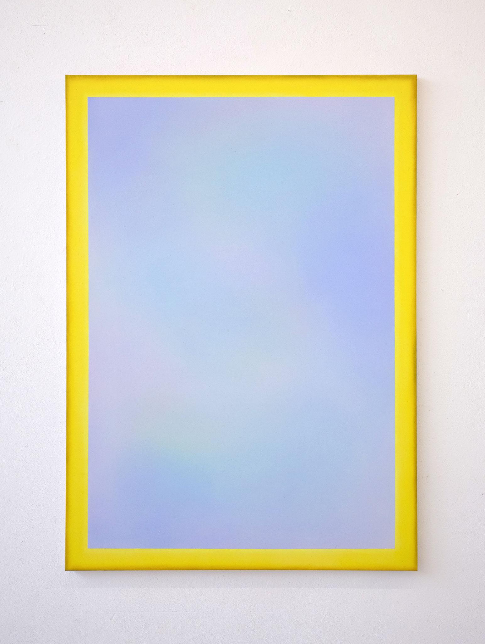 "Alina Birkner ""Untitled (Yellow Frame)"" 2019, 170x120 cm, Acrylic on Canvas"