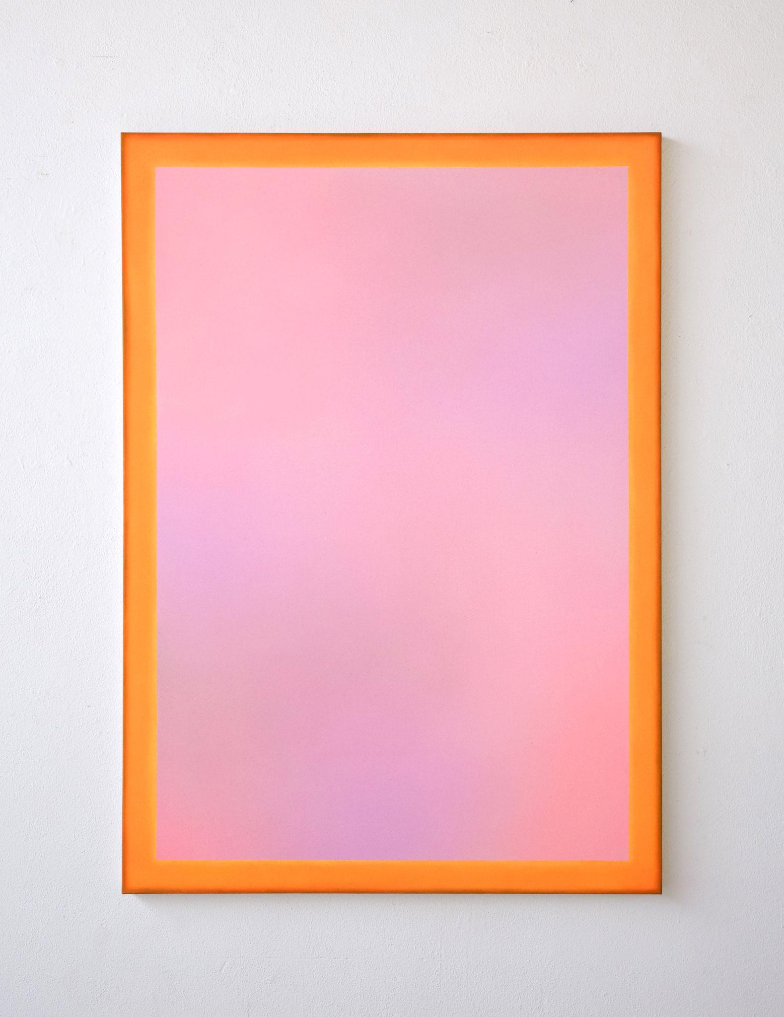 """Alina Birkner """"Untitled (Rose and Orange)"""" 2019, 170x120 cm, Acrylic on Canvas"""