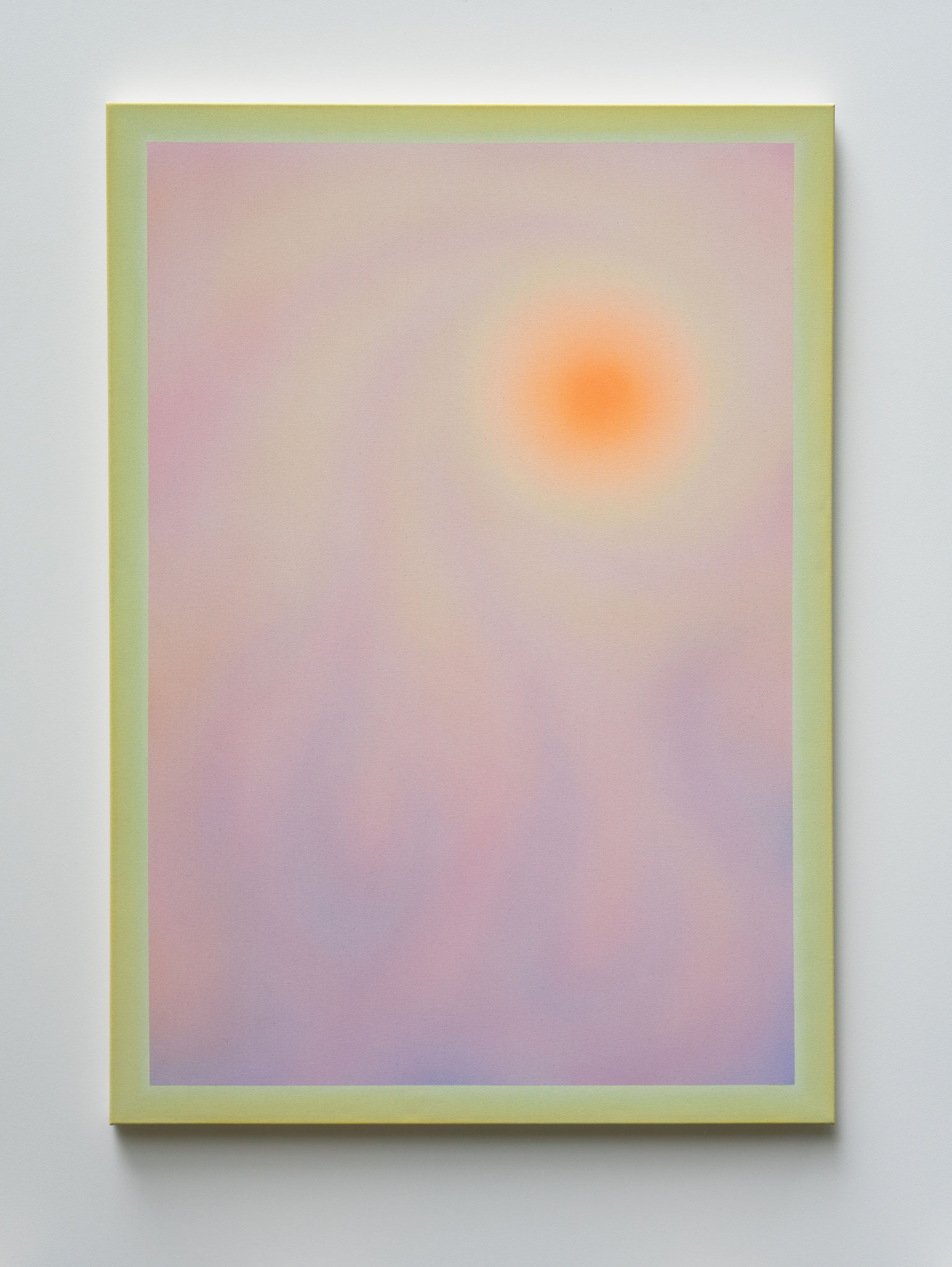"Alina Birkner ""Untitled (First Sunrise/ Inner Sun)"" 2020, 170x120 cm, Acrylic on Canvas"