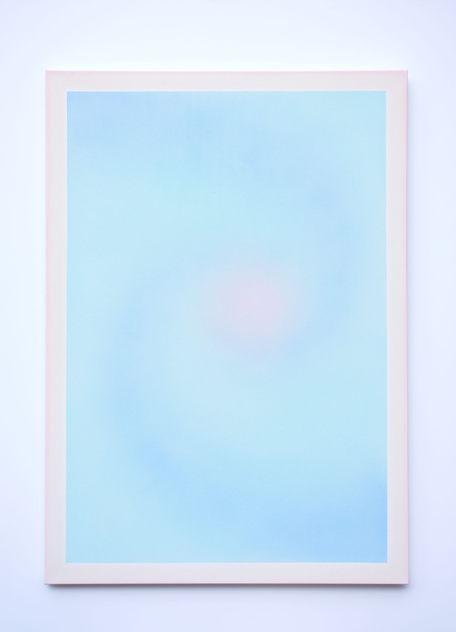 "Alina Birkner ""Untitled (Love is what made me/ Babyblue)"" 2019, 170x120 cm, Acrylic on Canvas"