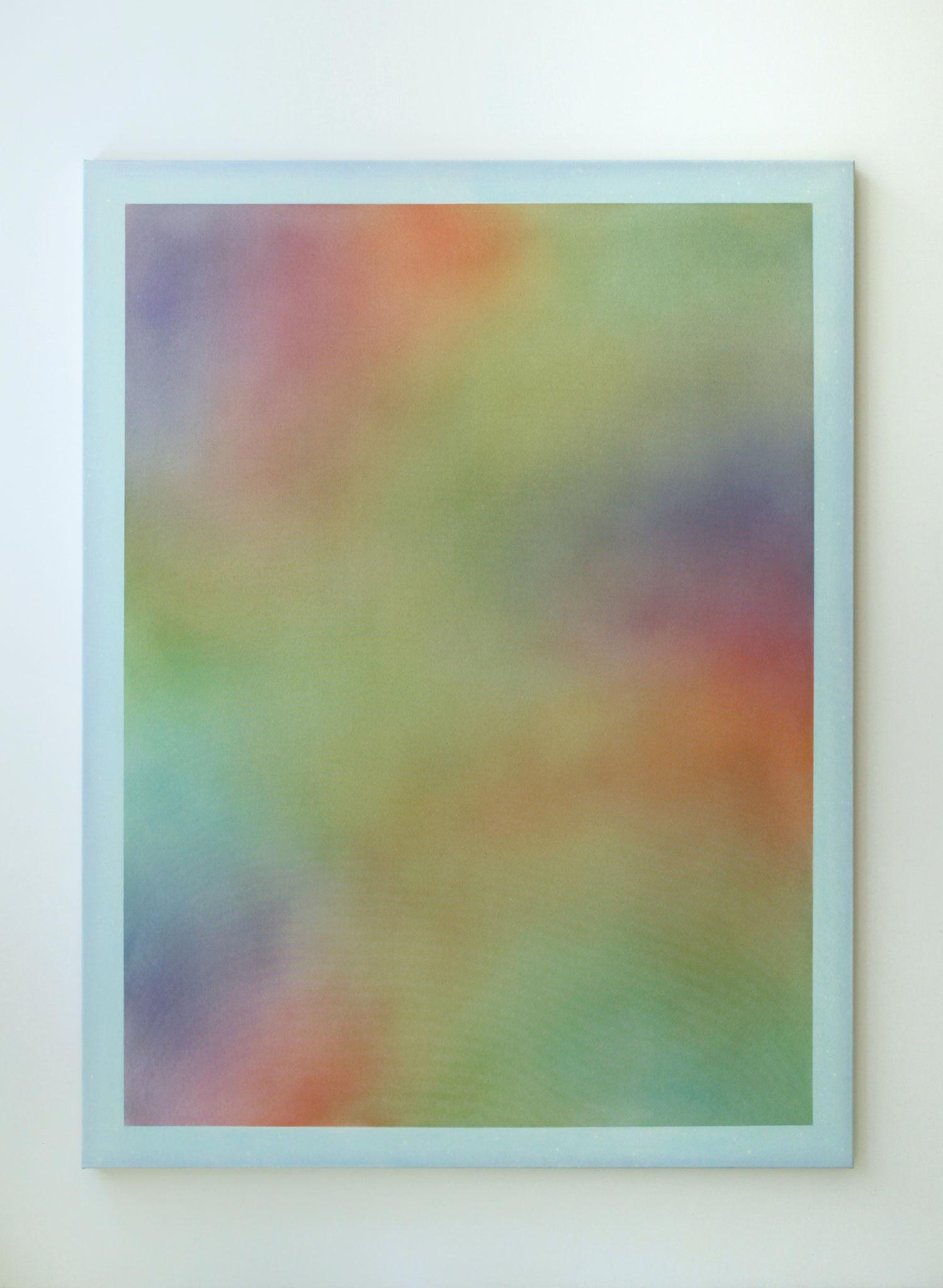 "Alina Birkner ""Untitled (Rainbow Mist)"" 2018, 180x140 cm, Acrylic on Canvas"