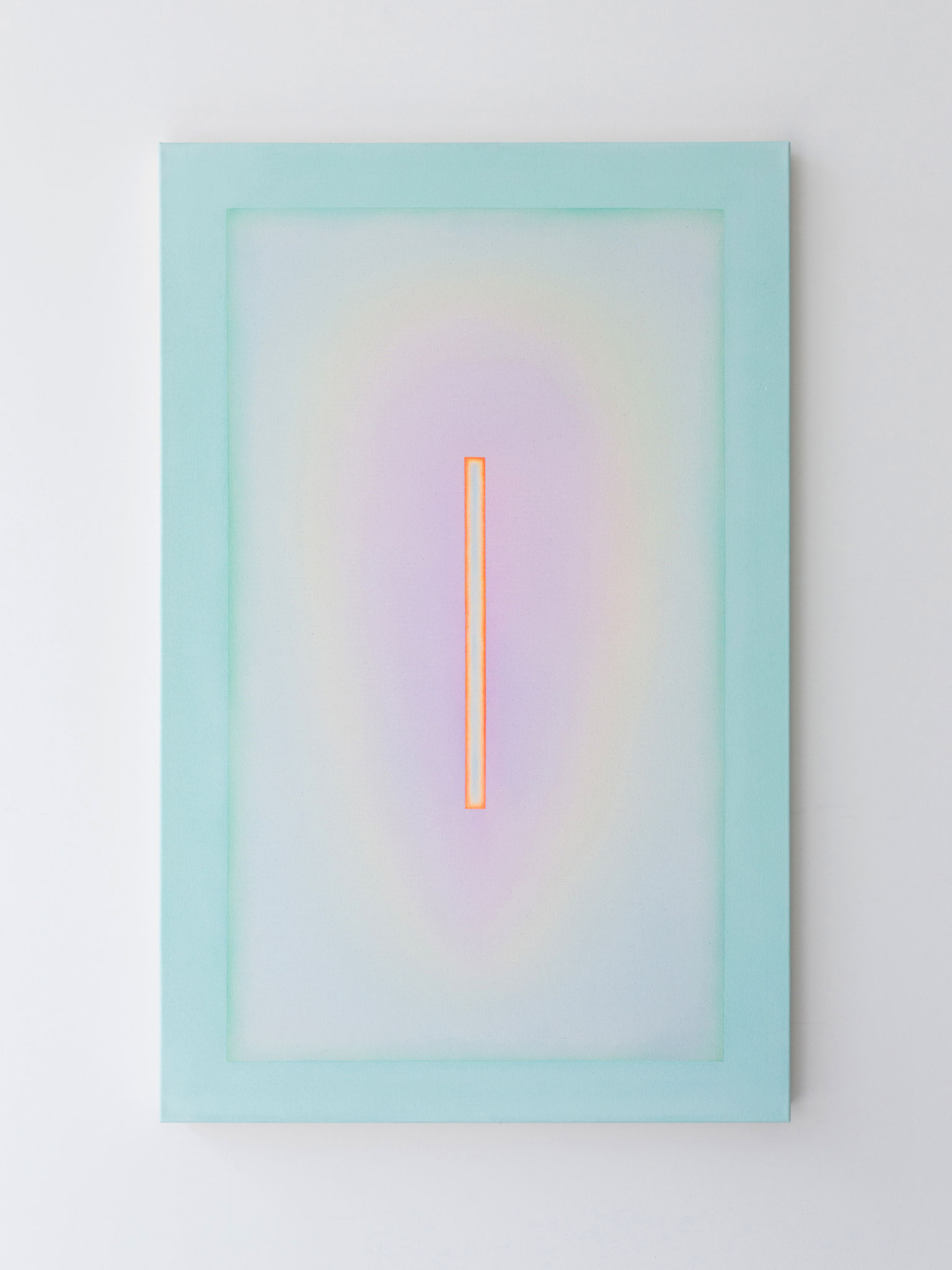 "Alina Birkner ""Untitled (Aquamarine Lavender)"" 2017, 140x90 cm, Acrylic on Canvas"