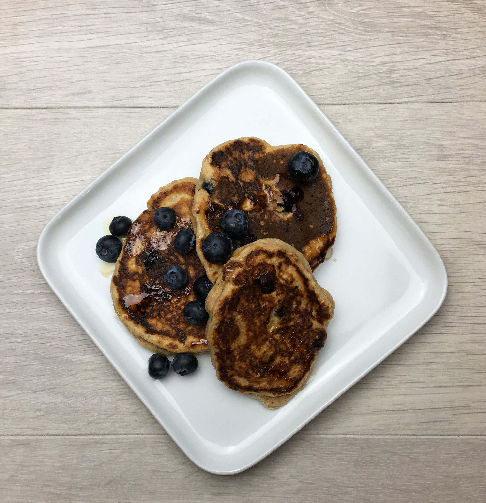 Blueberry Pancakes - 320 Kcals