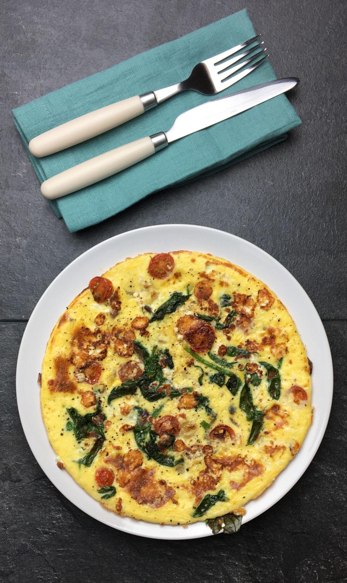 Tomato & Feta Omelette - 300 Kcals