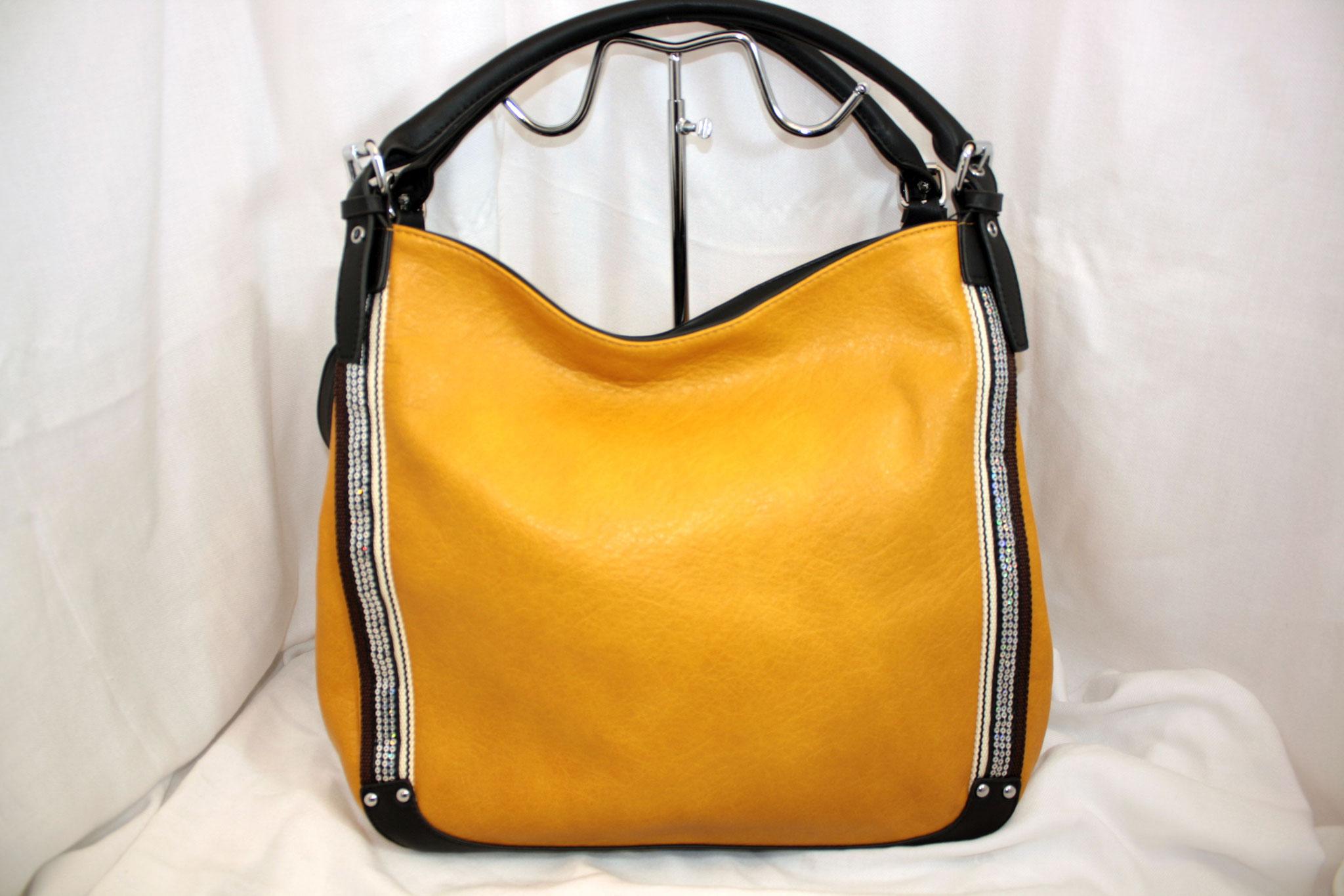 Tasche mit Straß gelb