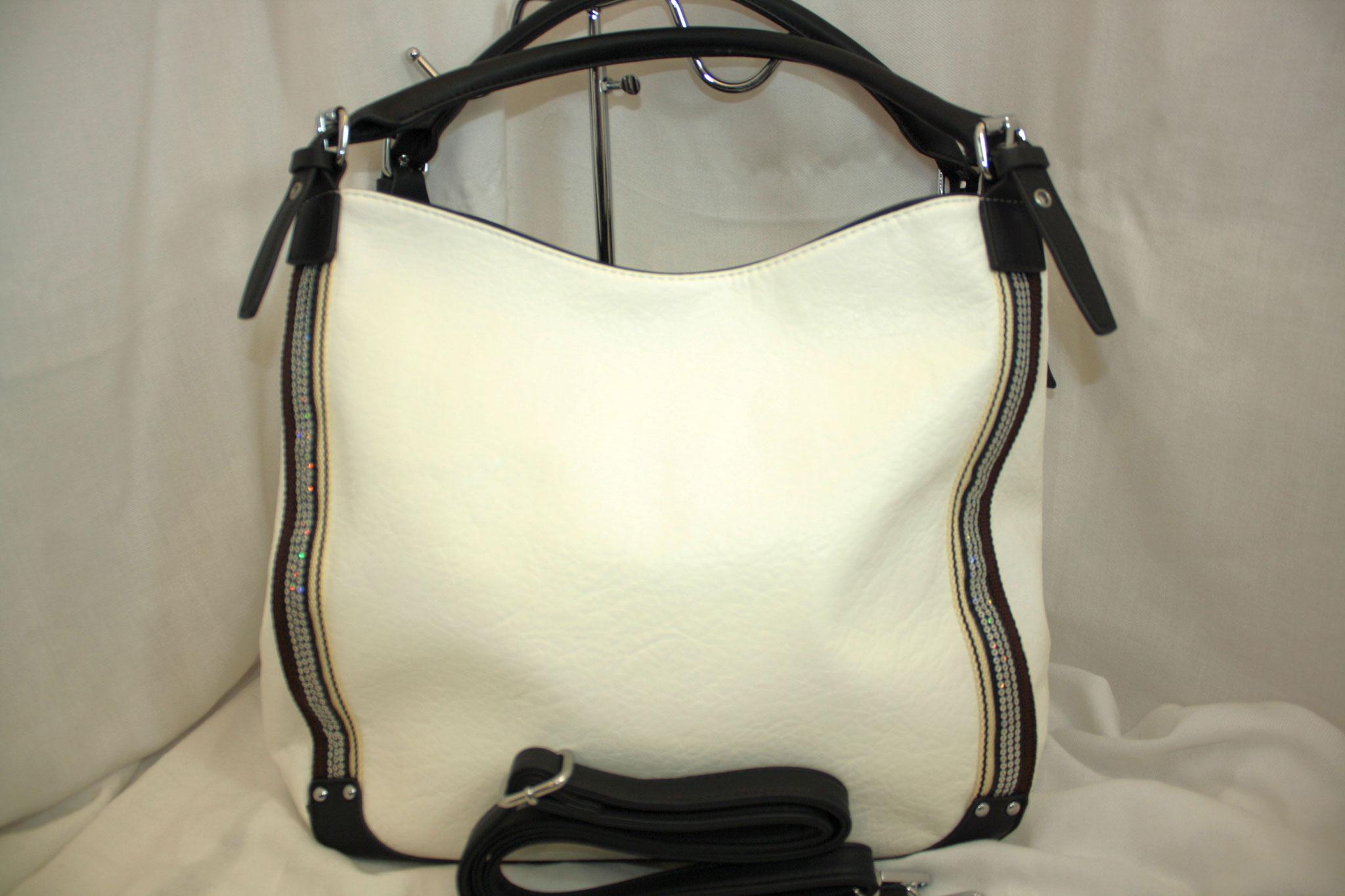 Tasche mit Straß weiß