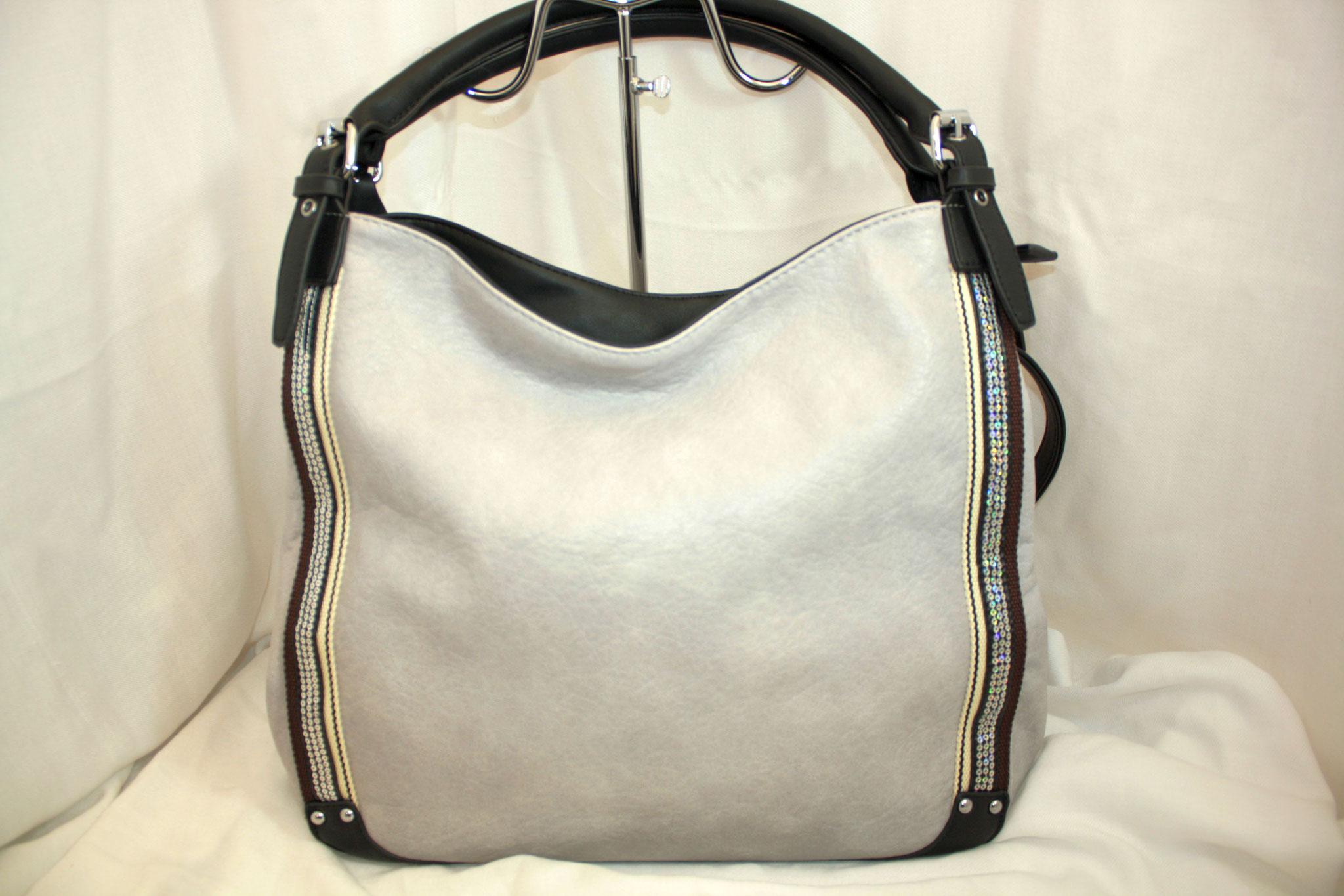 Tasche mit Straß grau