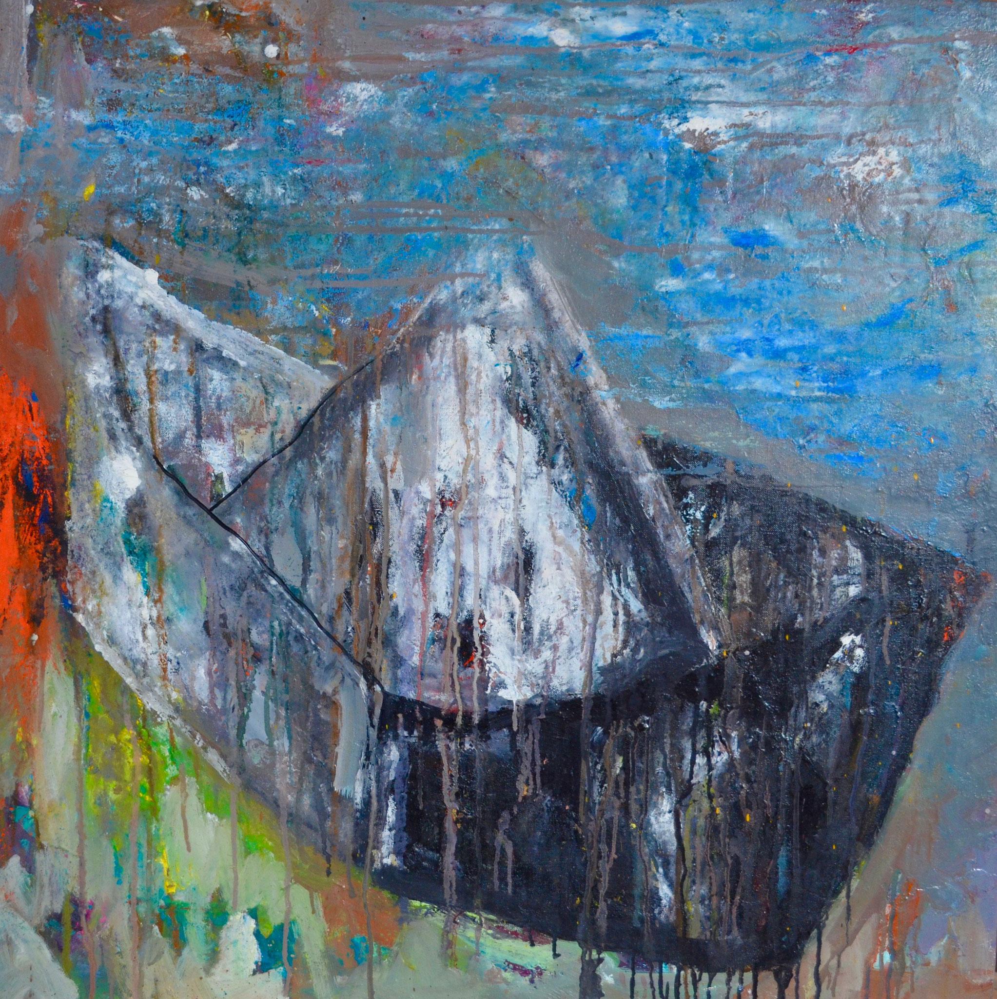 C3 - Toile / canevas - 90 x 90cm - bateau papier plié de Charon (Χάρων)