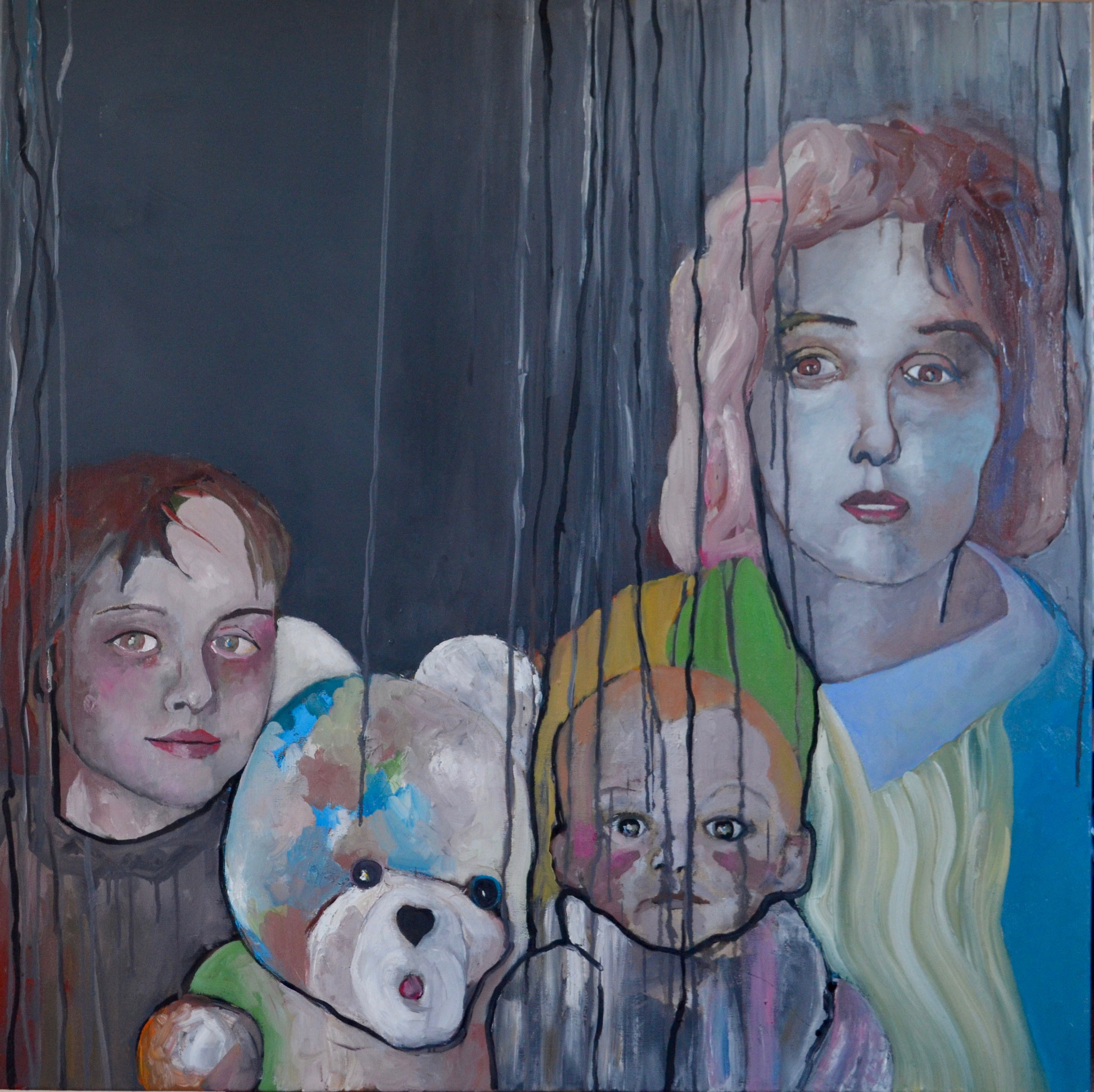 32 -Toile/canvas  - 100 x 100 cm