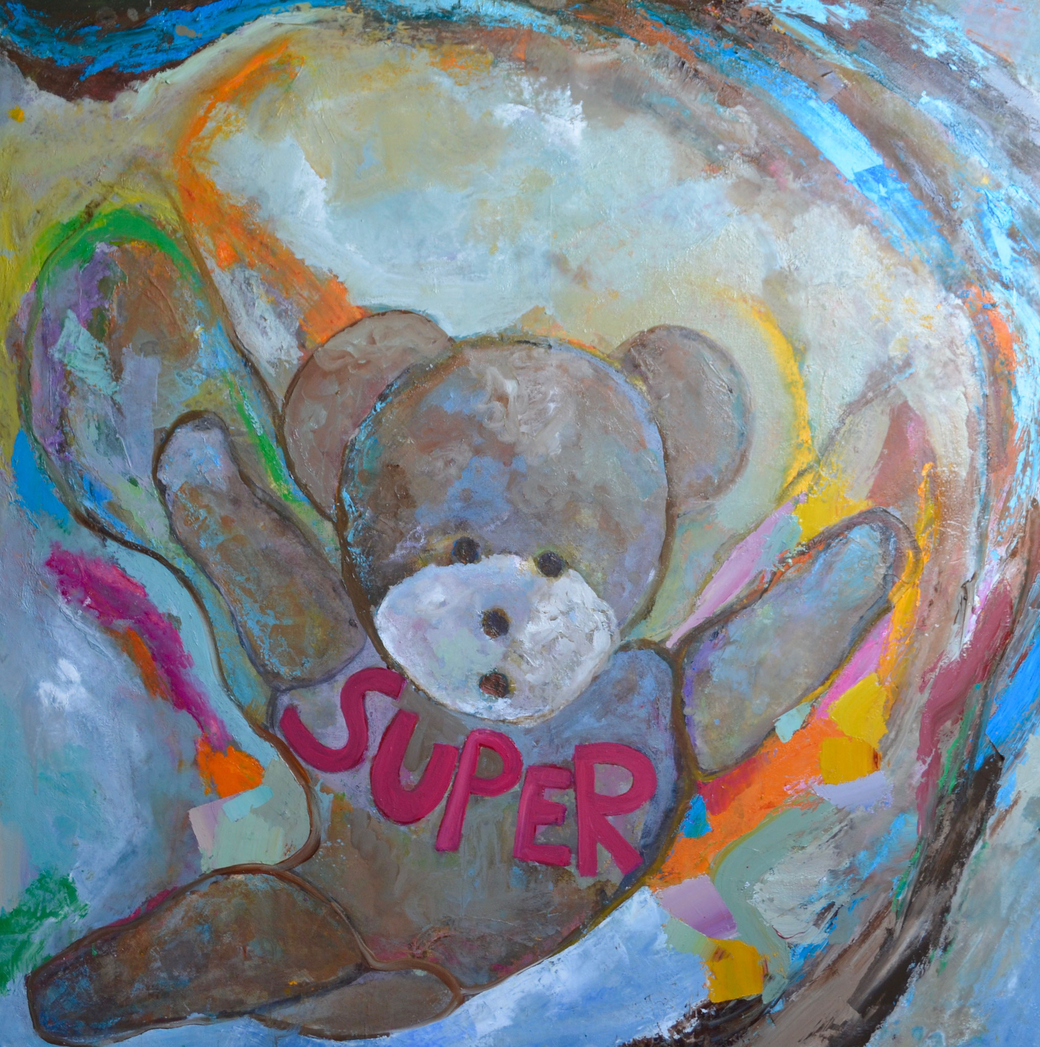 SUPER OURSON - Toile/canvas - 100x100 cm