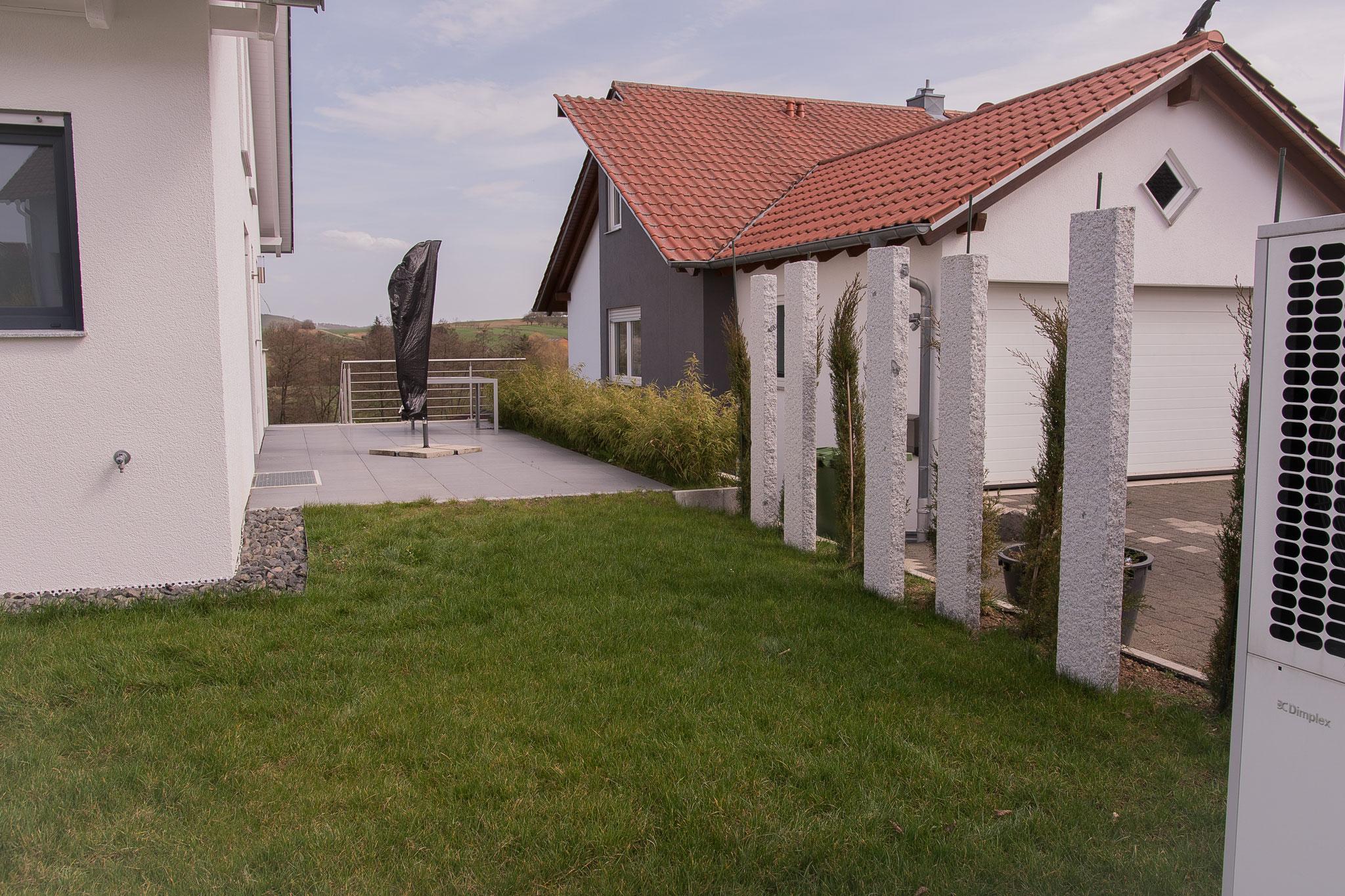 Neubau-Außenanlage