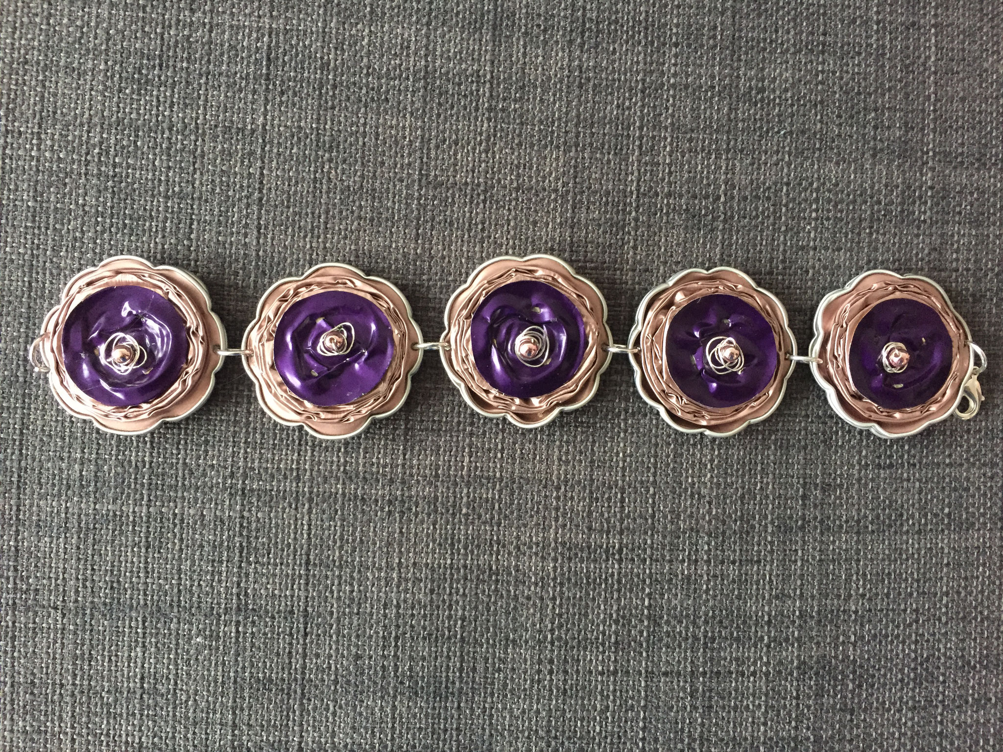 Langes Armband (rosa/violett)