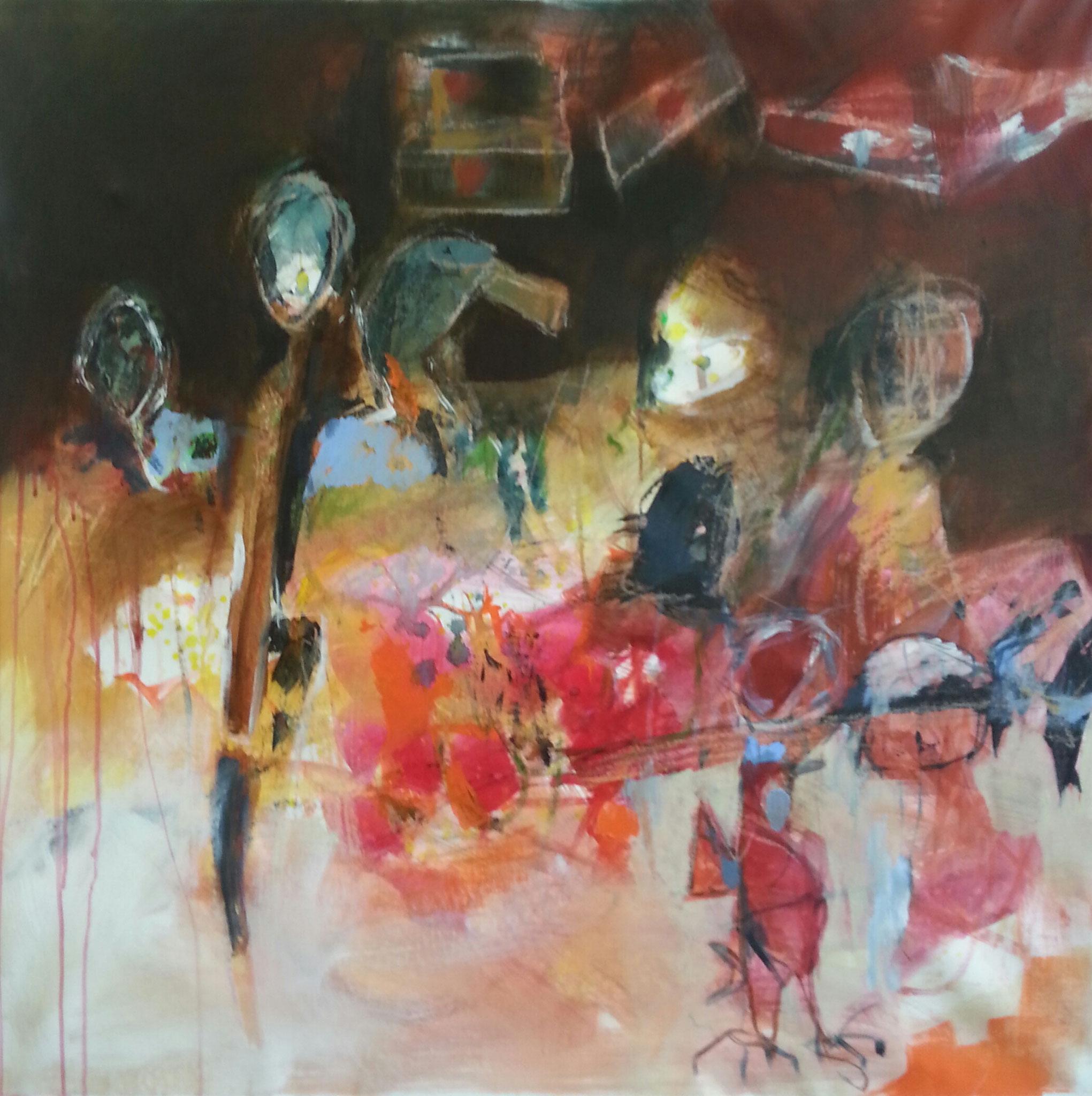 n° 1552- 2015- acryl/ölkreide auf leinwand - 96x95