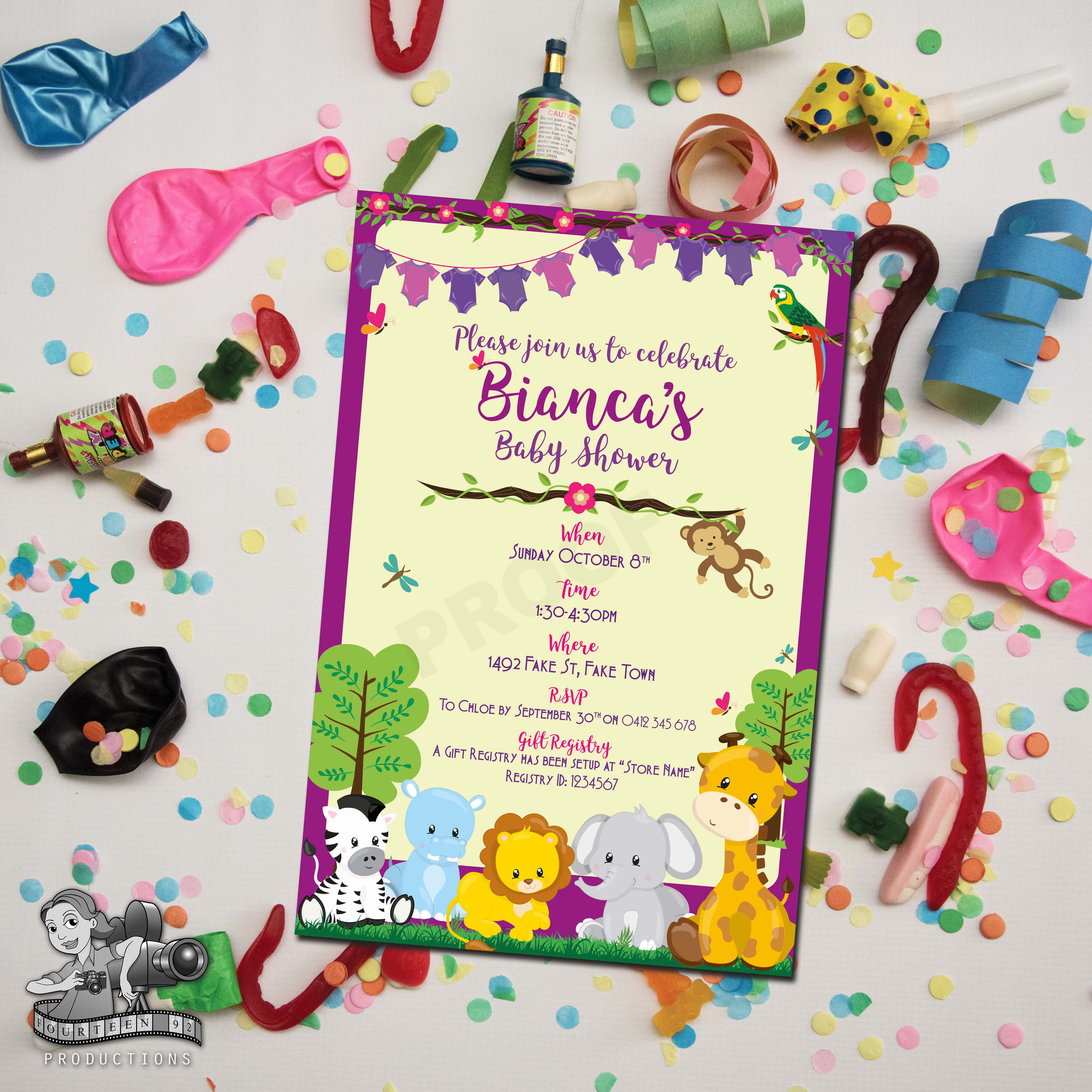 Baby Shower: Jungle Animals