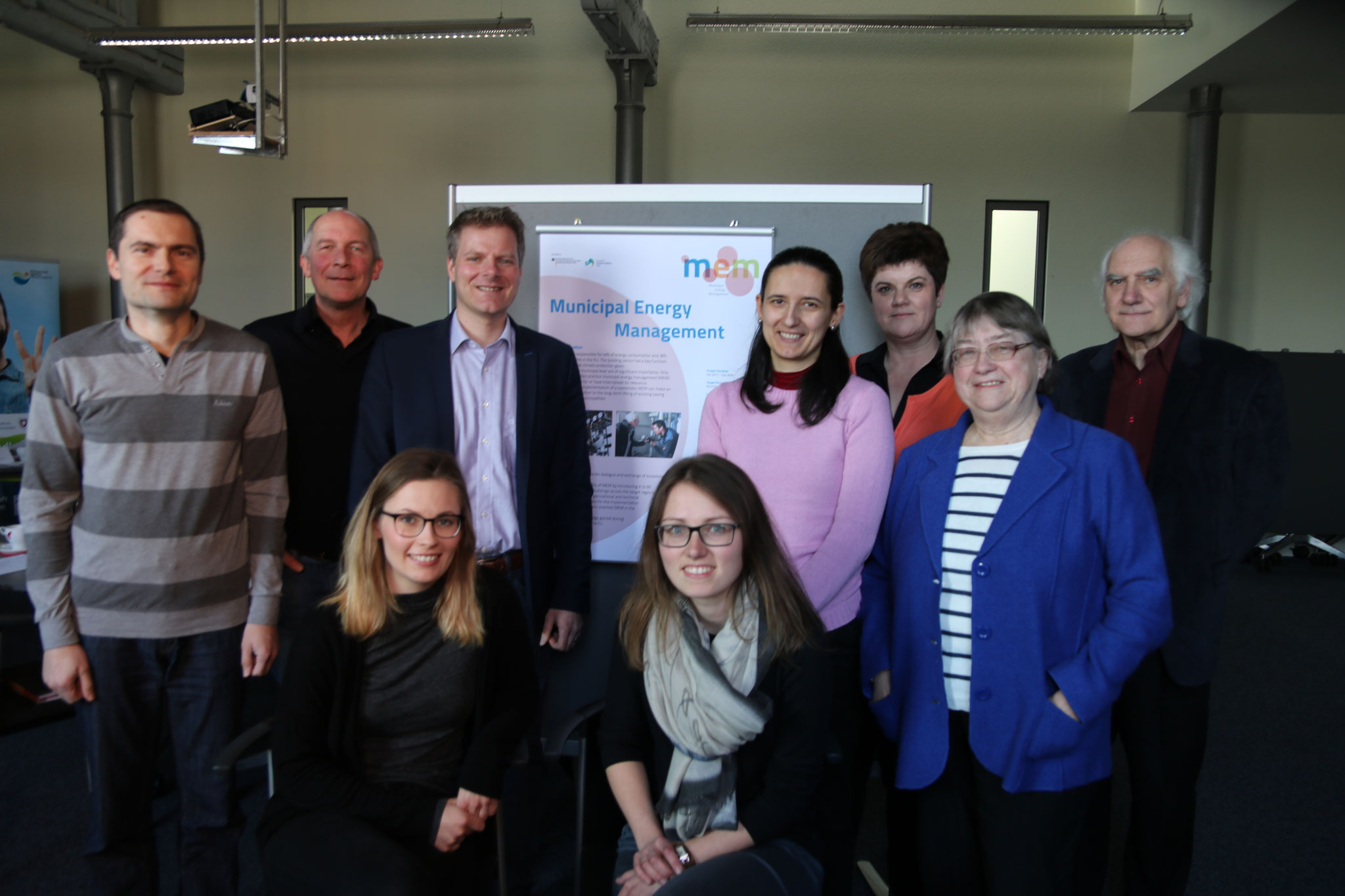 Das Projektteam mit Vertretern von Energieagenturen aus Deutschland, Slovenien, Bulgarien und Lithauen.