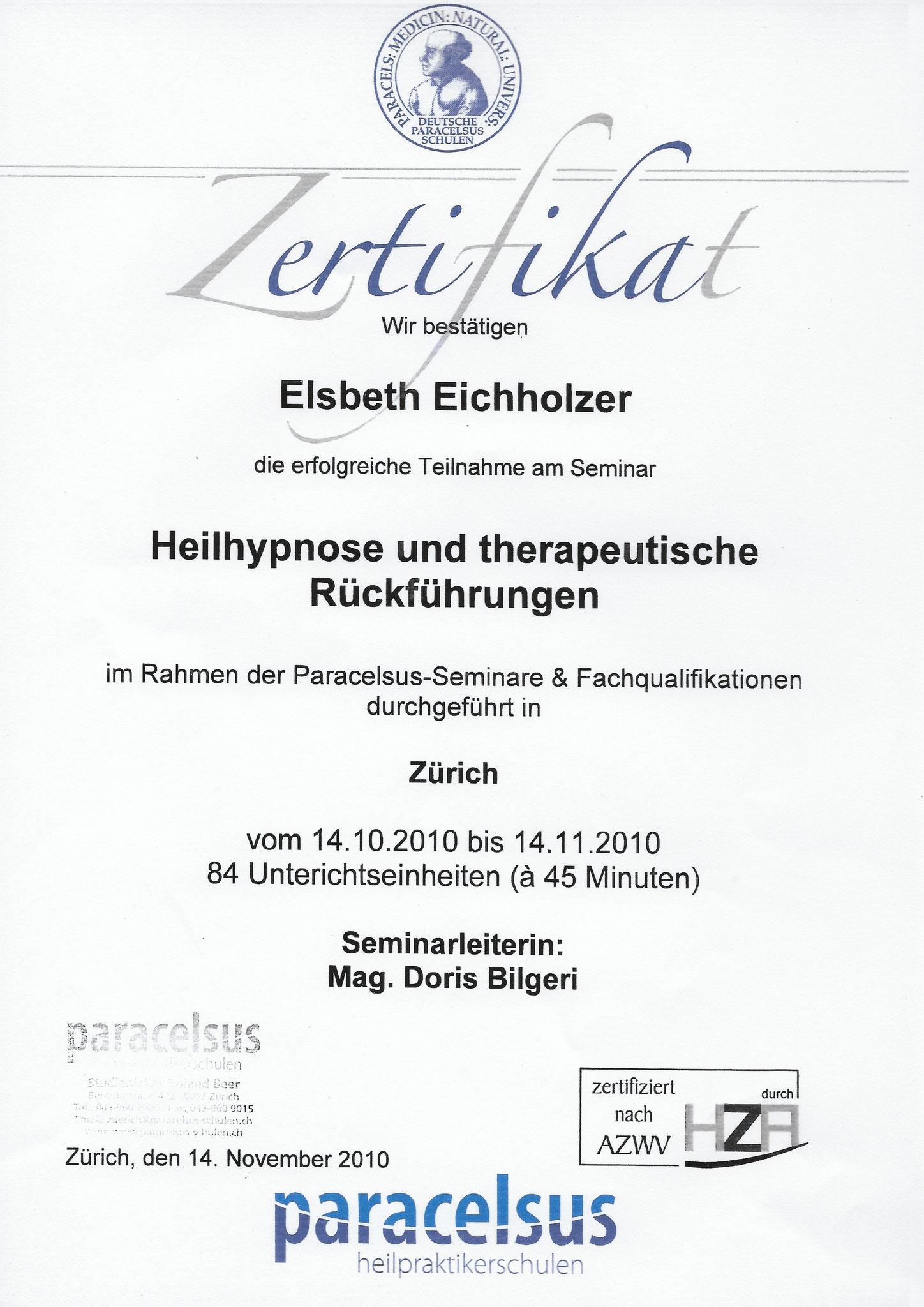 Paracelsus - Heilhypnose und therapeutische Rückführung
