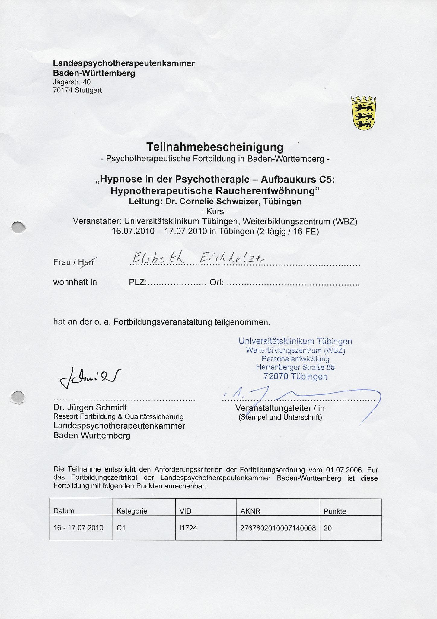 MEG Tübingen - Raucherentwöhnung