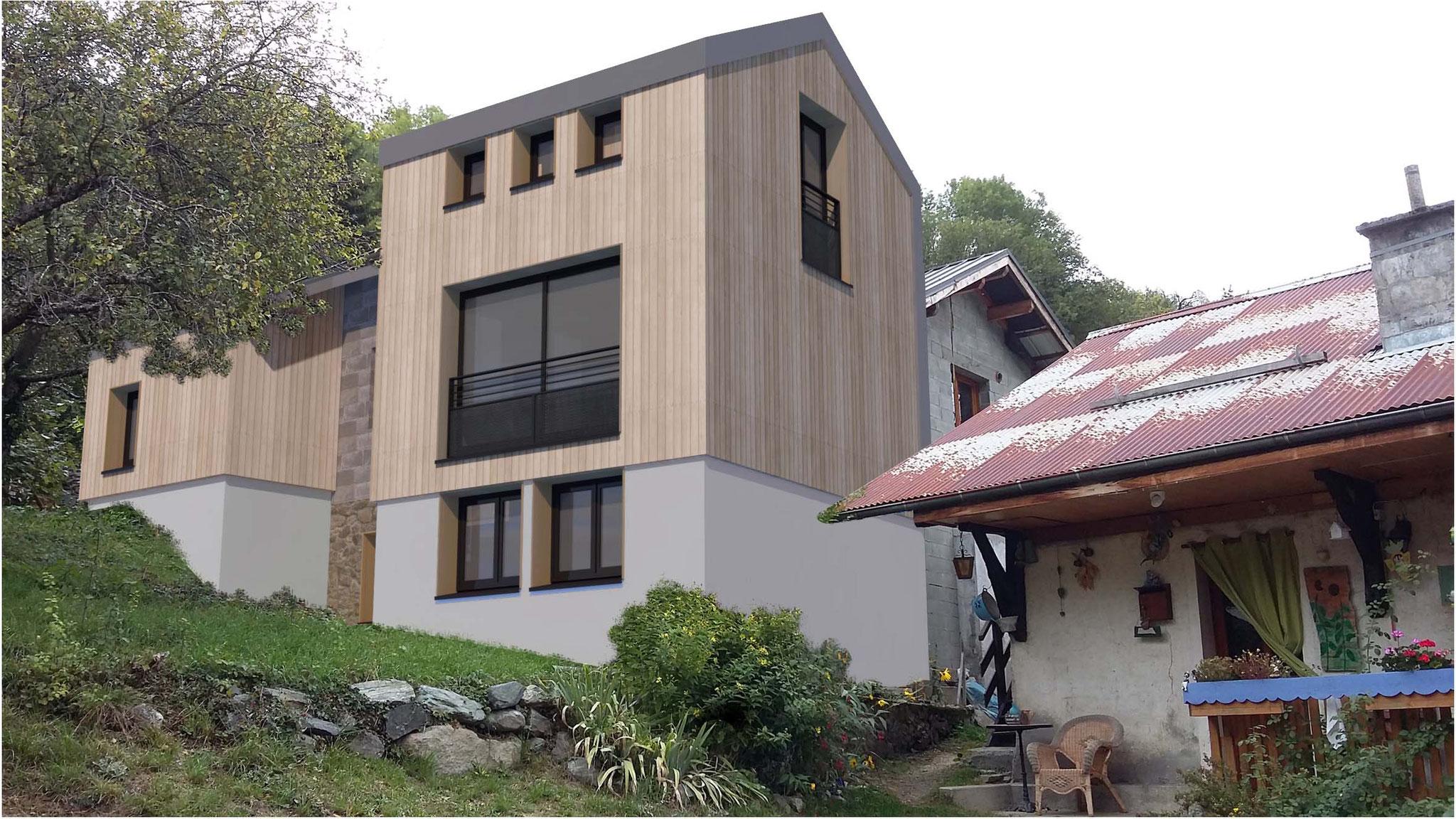 Extension d'une maison à St Etienne de Cuines (73) - Permis accordé
