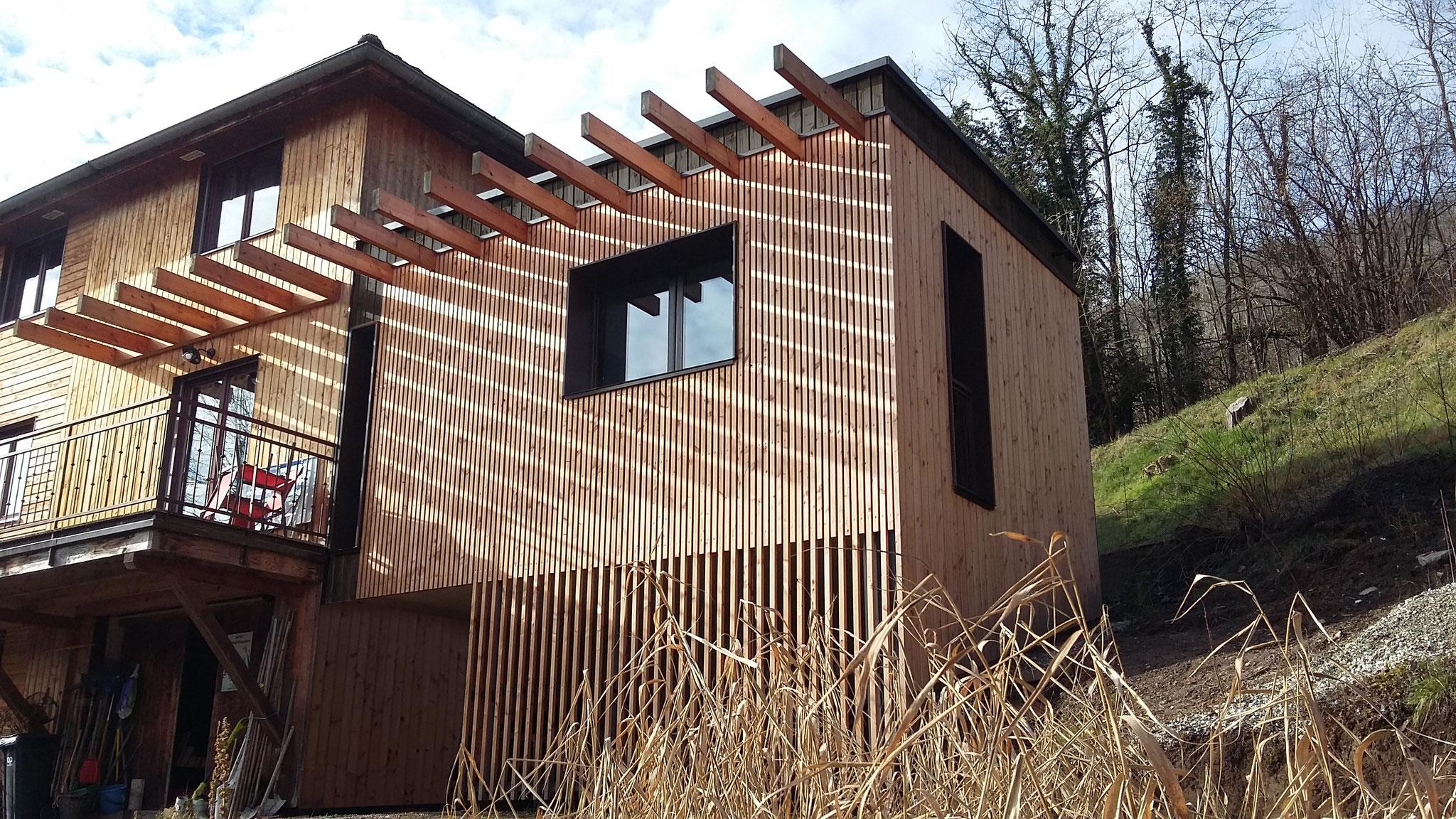 Extension d'une maison à La Trinité (73) - Chantier livré