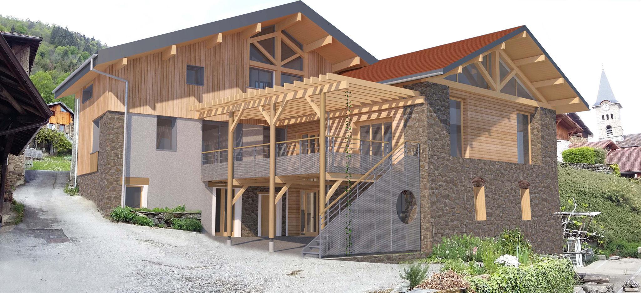 Transformation d'une grange en logements à Le Moutaret (38) - Permis accordé