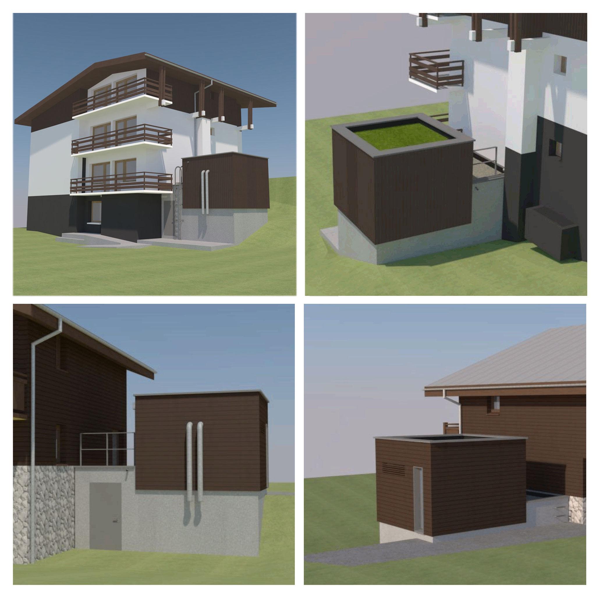 Construction de silos pour chaufferie bois aux Houches (74) - Etude de faisabilité