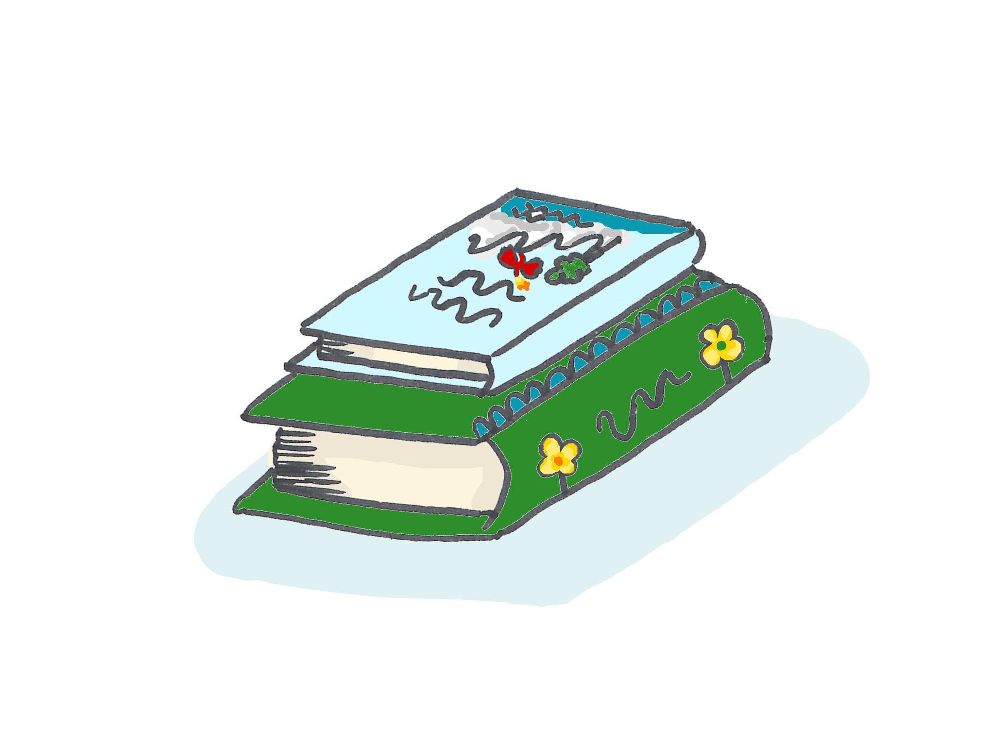 10. Bücher! Manchmal vergessen, aber immer verlässlich. Nichts inspiriert Kinder mehr als Geschichten und Gedankenbilder. Diese sind optimale Vorbereitung für alle anderen Ideen, die wir hier genannt haben, und Wegbereiter für viele weitere.