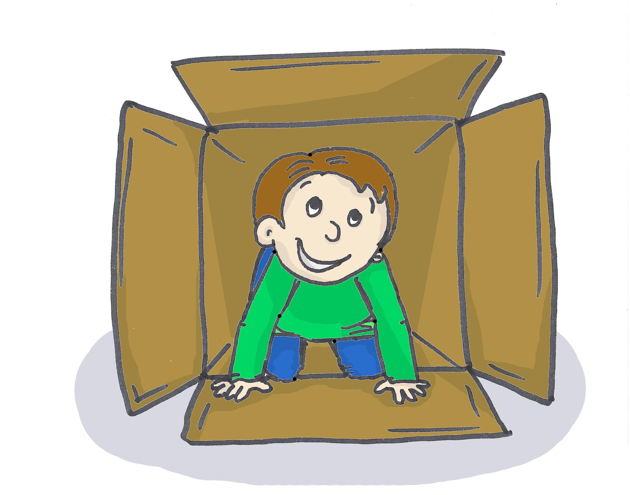 7. Für Architekten und Ingenieure: Alte Kartons, Bretter, Decken, Regenschirme, Besenstile und Co. sind das ideale Baumaterial für Höhlen, Bühnen, Boote und Autos.