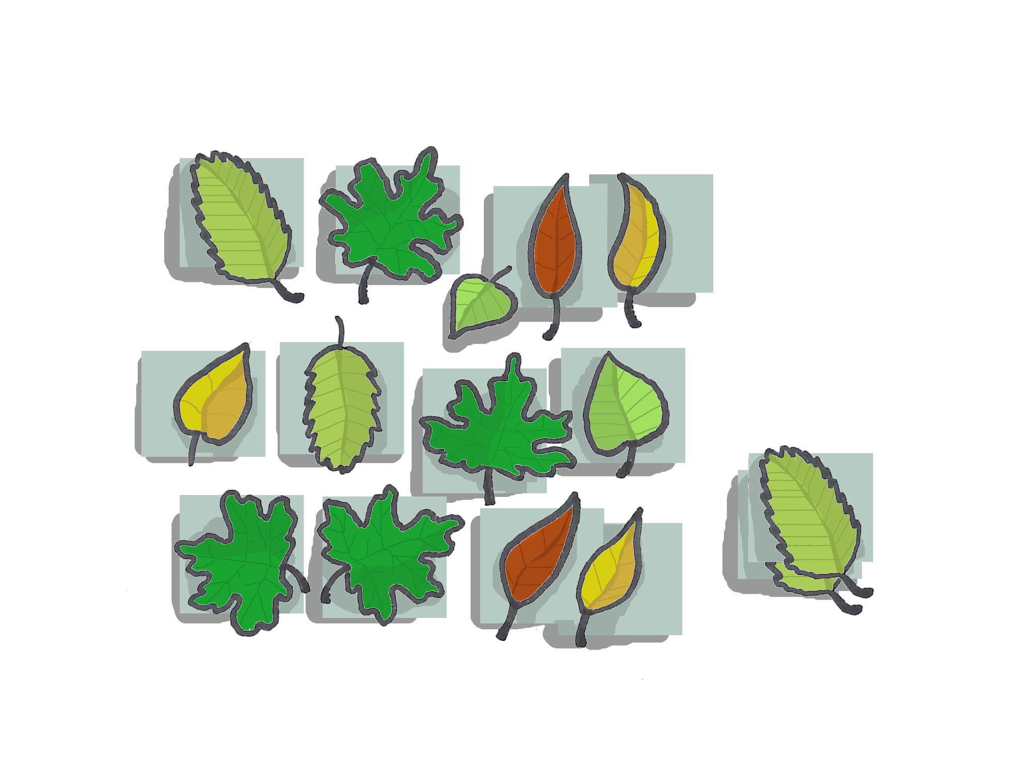 5. Memory selber machen: Zwei gleiche Dinge (aus dem Abfall oder Wald) bilden ein Paar. Einfach aus dickem Papier Quadrate ausschneiden und die andere Seite bekleben. Ähnlich lässt sich auch ein Mensch-Ärger-dich-nicht oder Dominospiel herstellen.