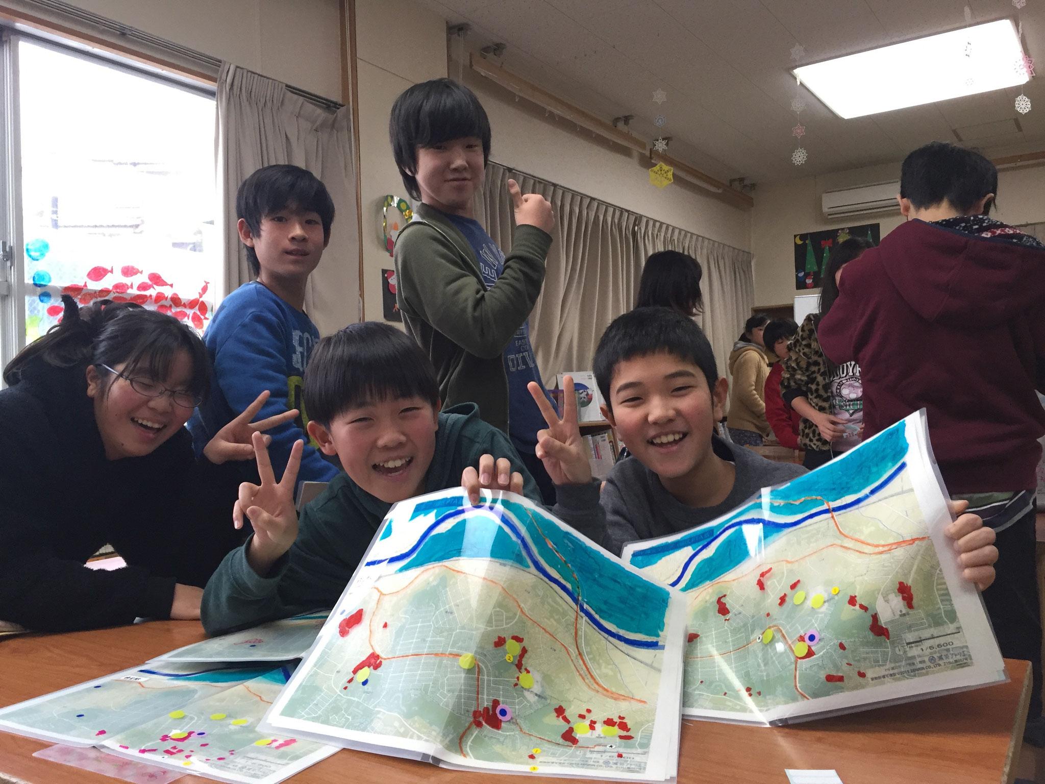 東本郷小学校6年生my減災マップづくり(その2)