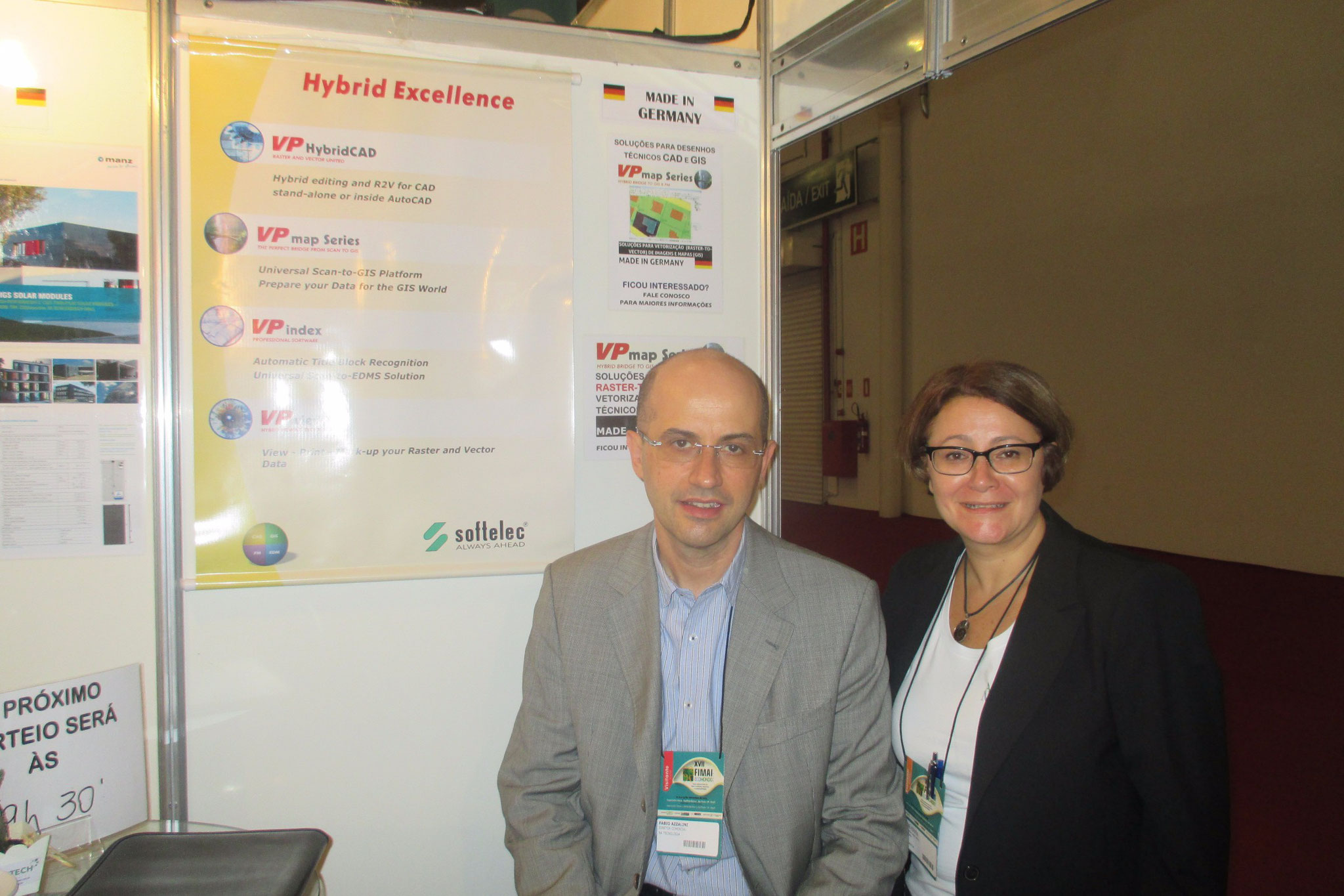 Exhibiting at FIMAI ECOMONDO in Sao Paulo, Brazil! With Fabio Azzaline, Director of NA Tecnologia.