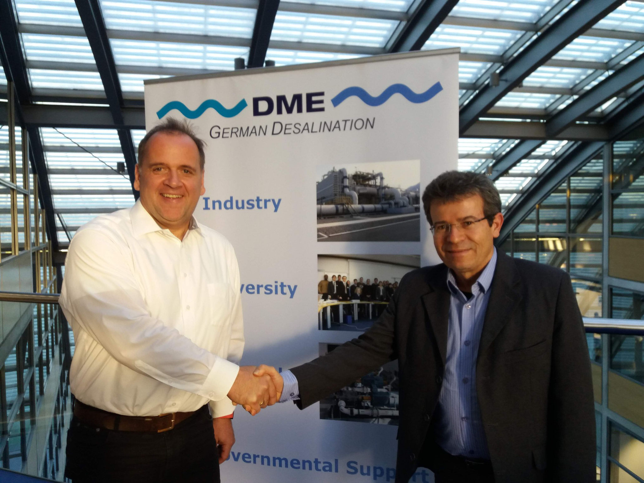 Mr. Claus Mertes from DME and Mr. David Cerqueira from EDS SUSTENERGY