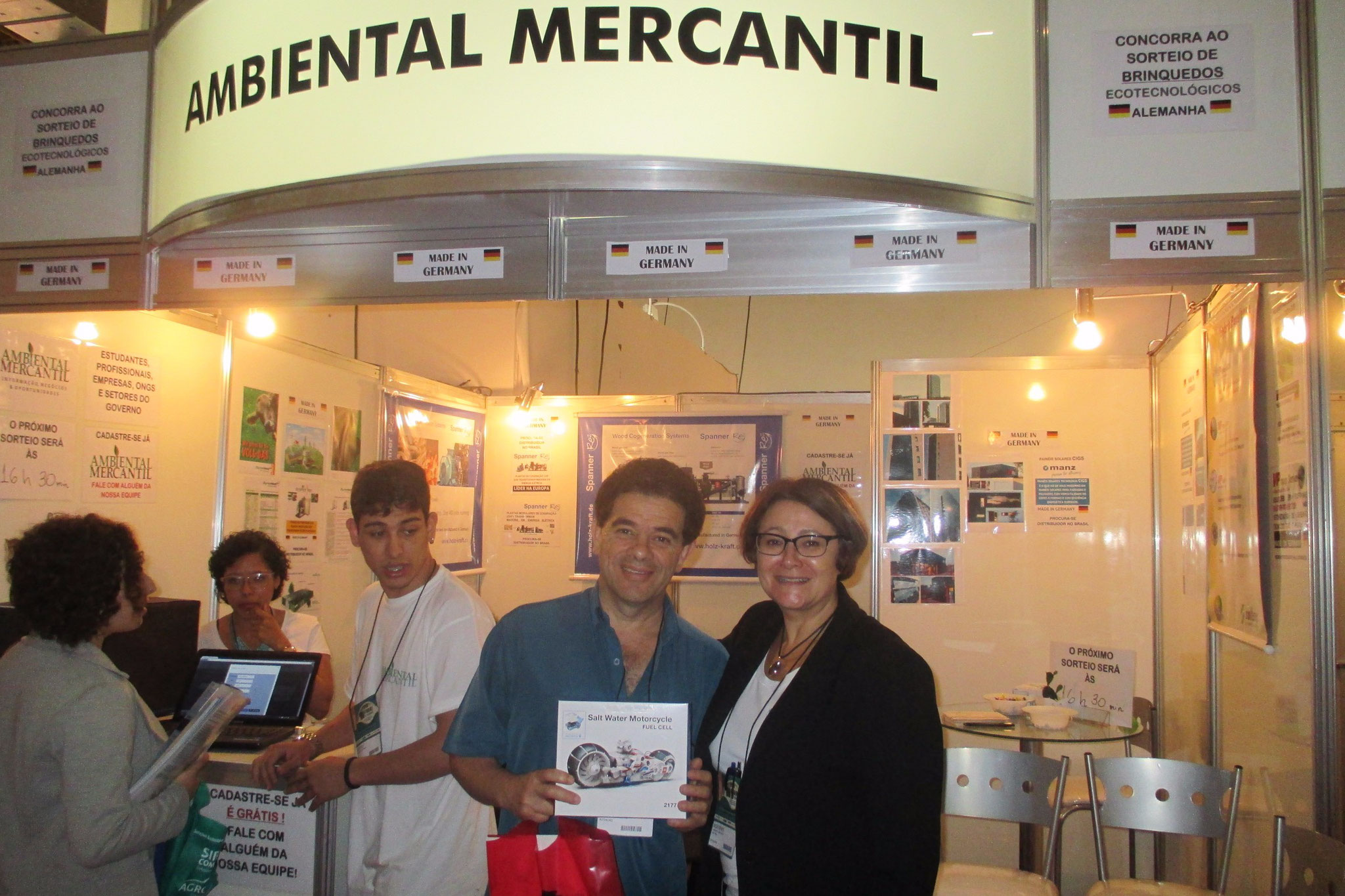 Exhibiting at FIMAI ECOMONDO in Sao Paulo, Brazil! Lucky winner!