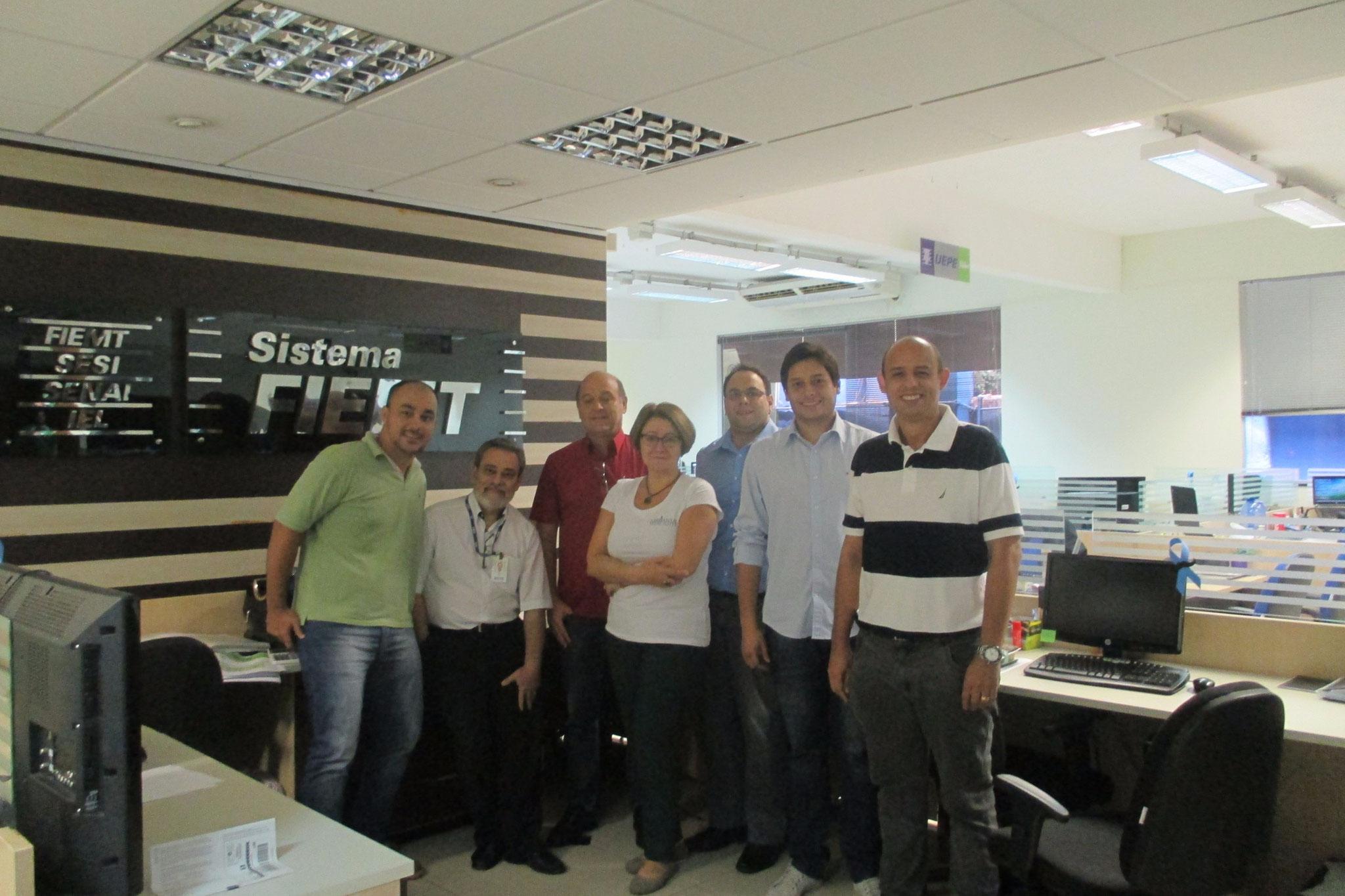 Visiting SENAI and FIEMT- Federação das Indústrias do Mato Grosso in 2015, Cuiaba MT, Brazil.
