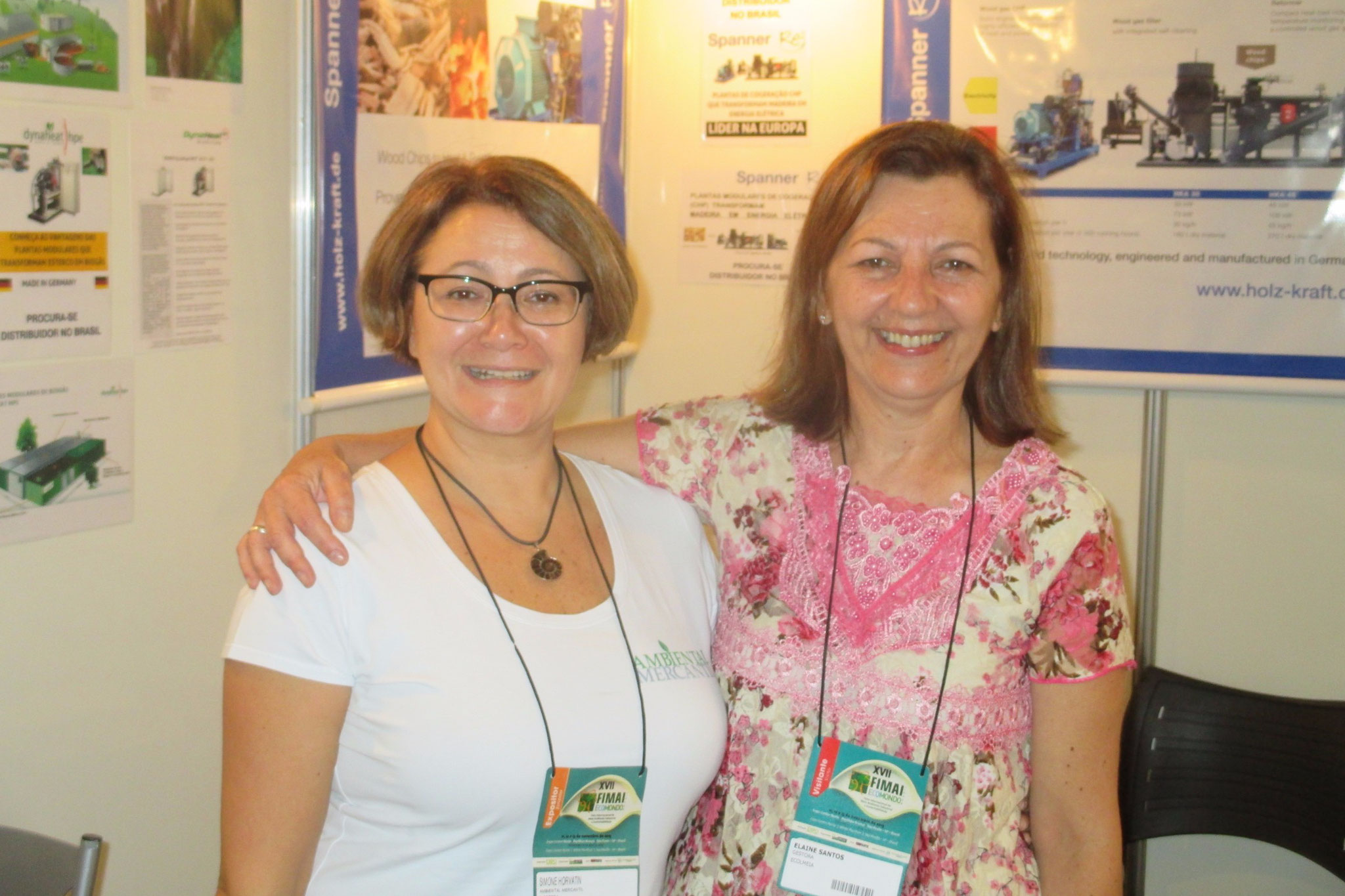 Exhibiting at FIMAI ECOMONDO in Sao Paulo, Brazil! With Elaine Santos, our business partner!