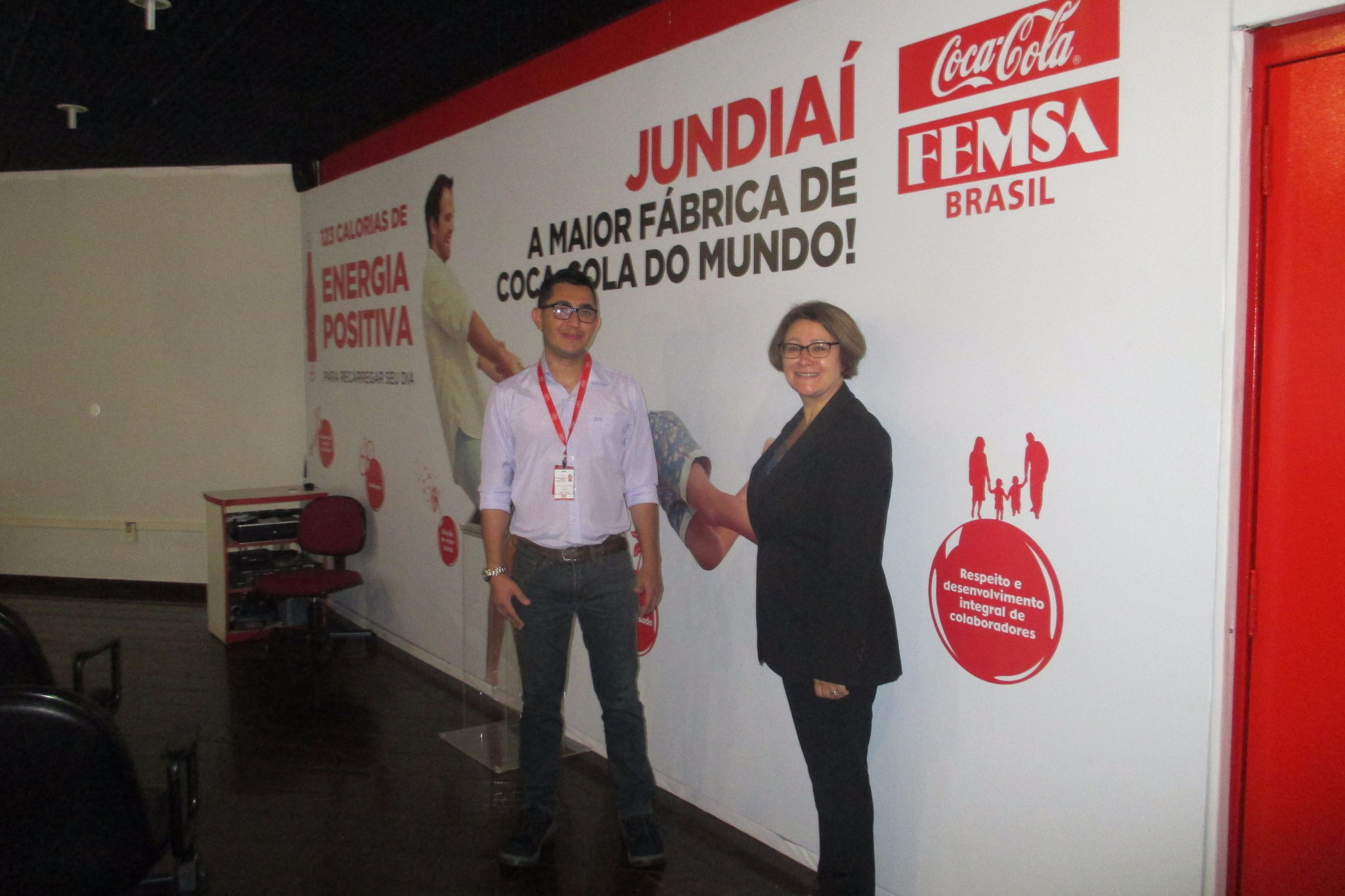Visiting Coca-Cola Femsa in 2015, Jundiaí, Brazil.
