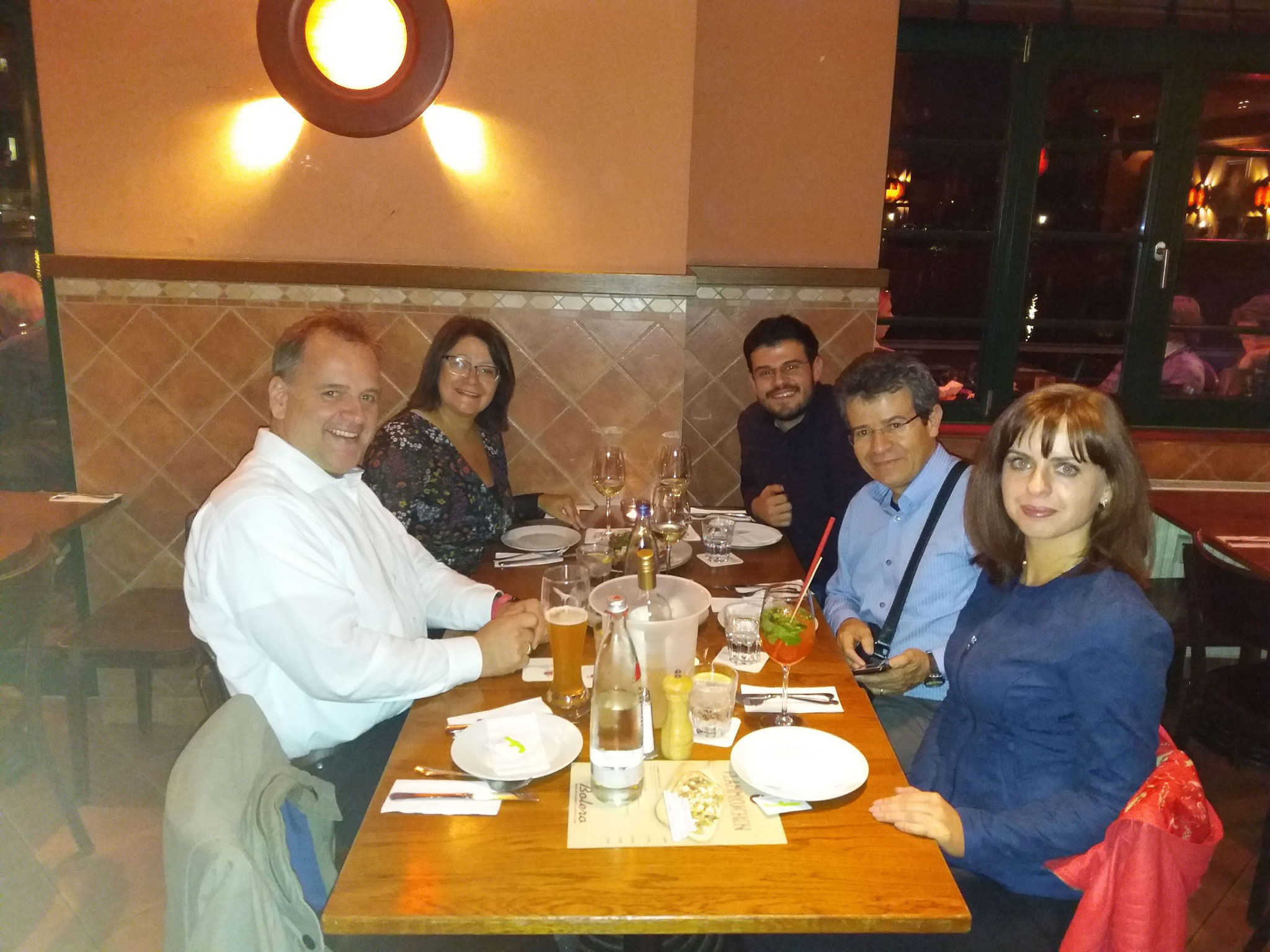 Dinner offered by the German Water Desalination to EDS SUSTENERGY.