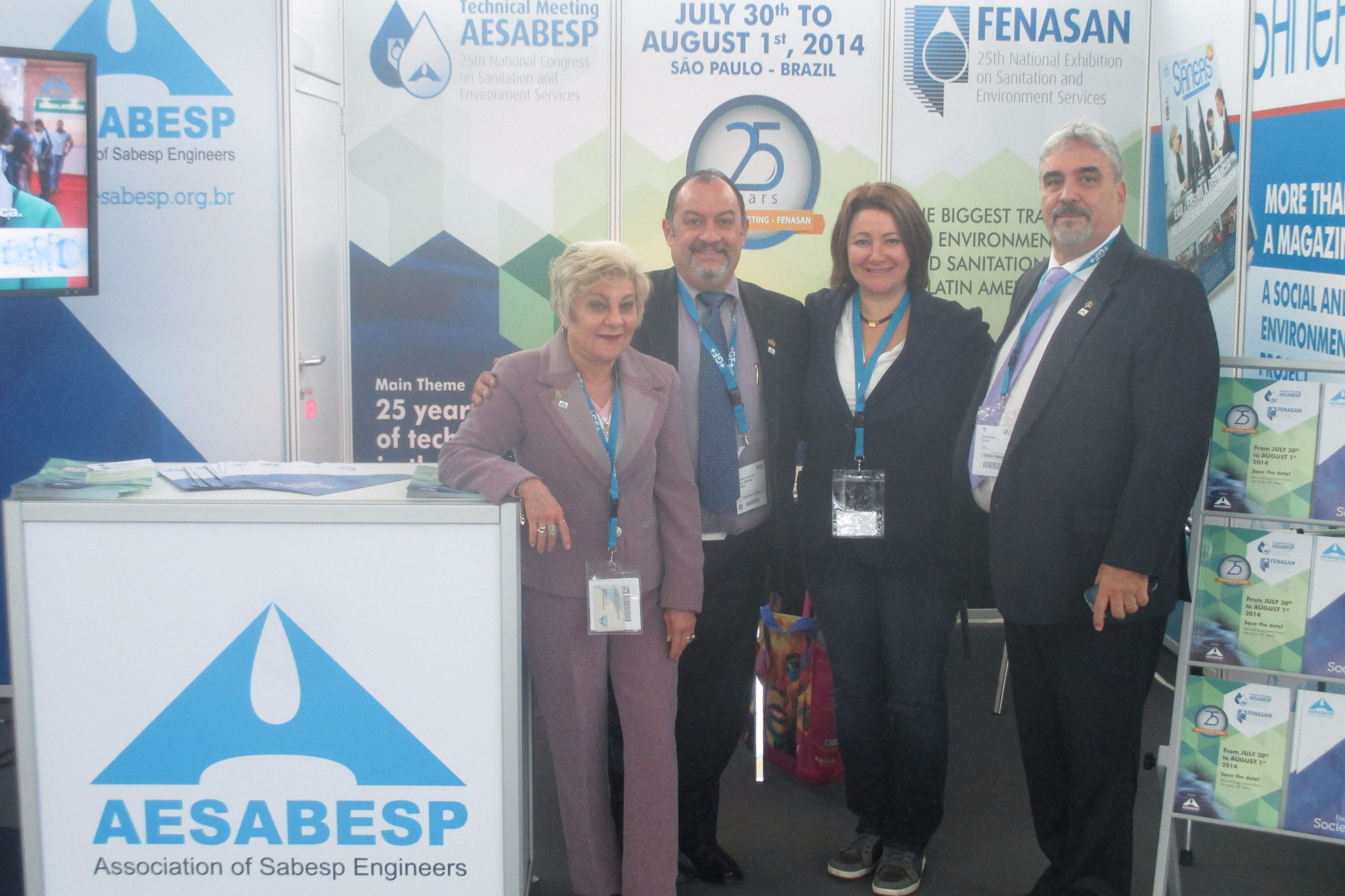 Visiting SABESP's stand at IFAT2014!