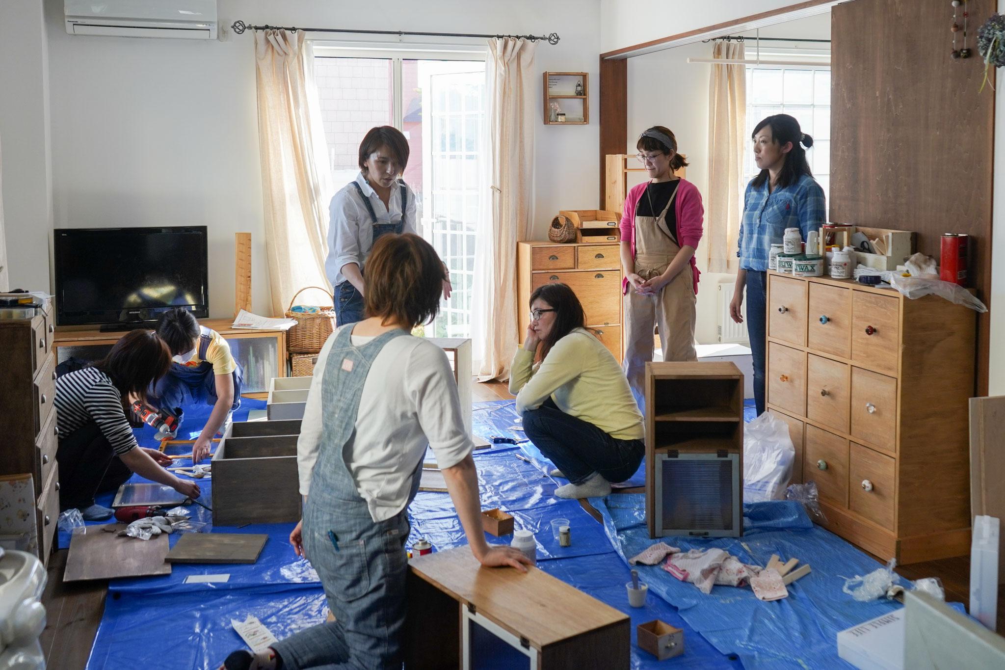 江別・札幌・旭川・苫小牧でDIY教室を開催しています。