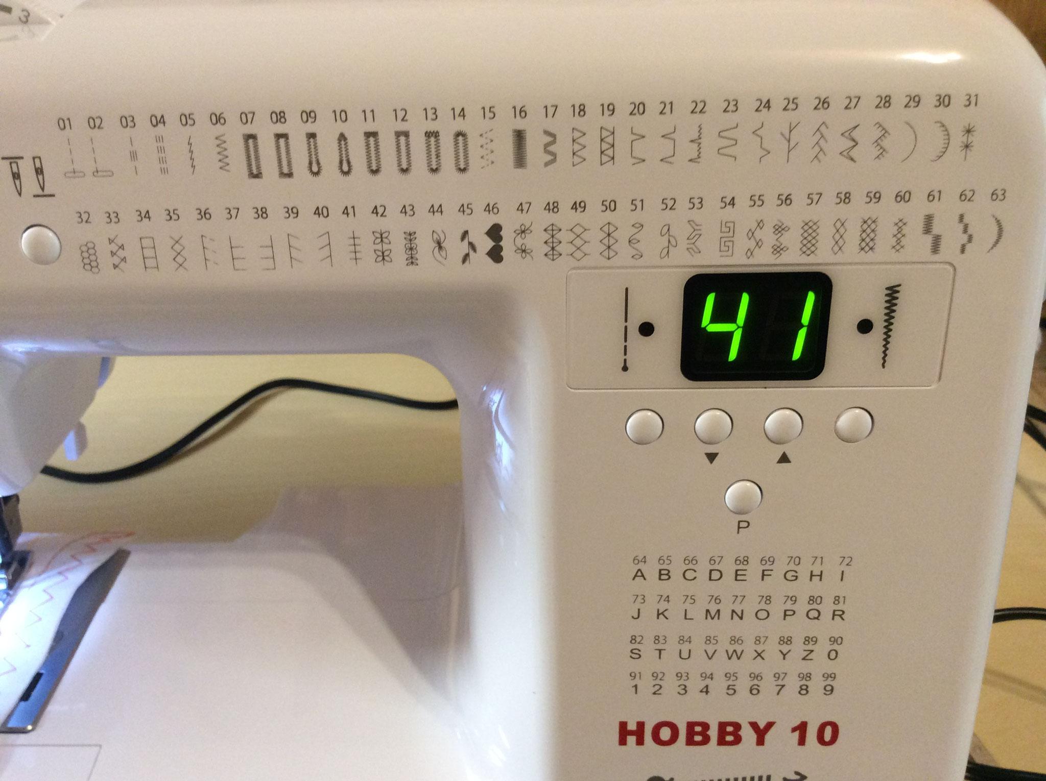 Übersicht der Nutz- und Zierstiche auf der Nähmaschine